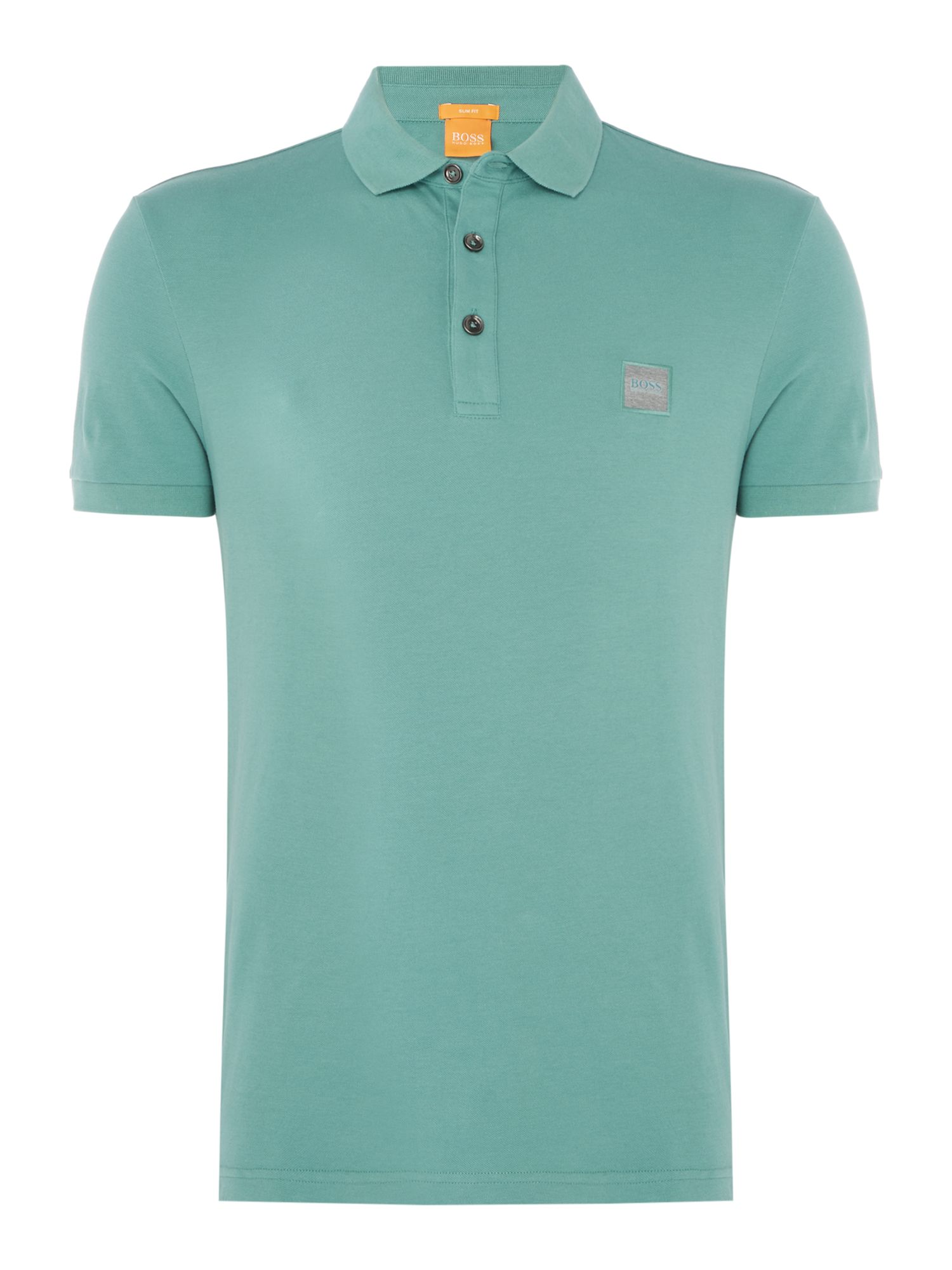 Men's Hugo Boss Pavlik slim fit patch logo polo shirt, Green