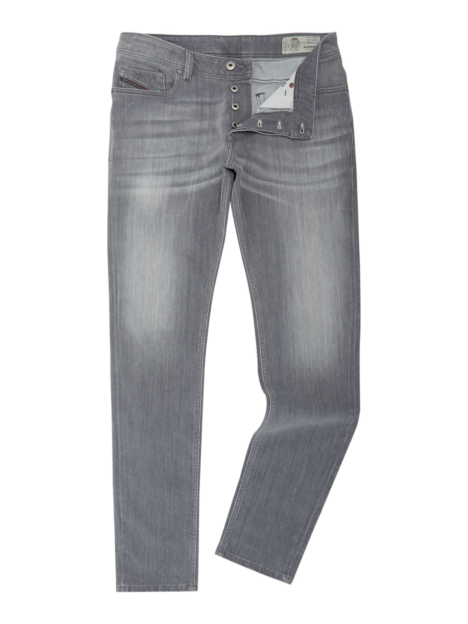 Mens Sleenker 683m Ultrasoft Slim Tapered Fit Jeans, Grey