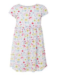 Bardot Baby Girls Short Sleeve Floral Print Dress