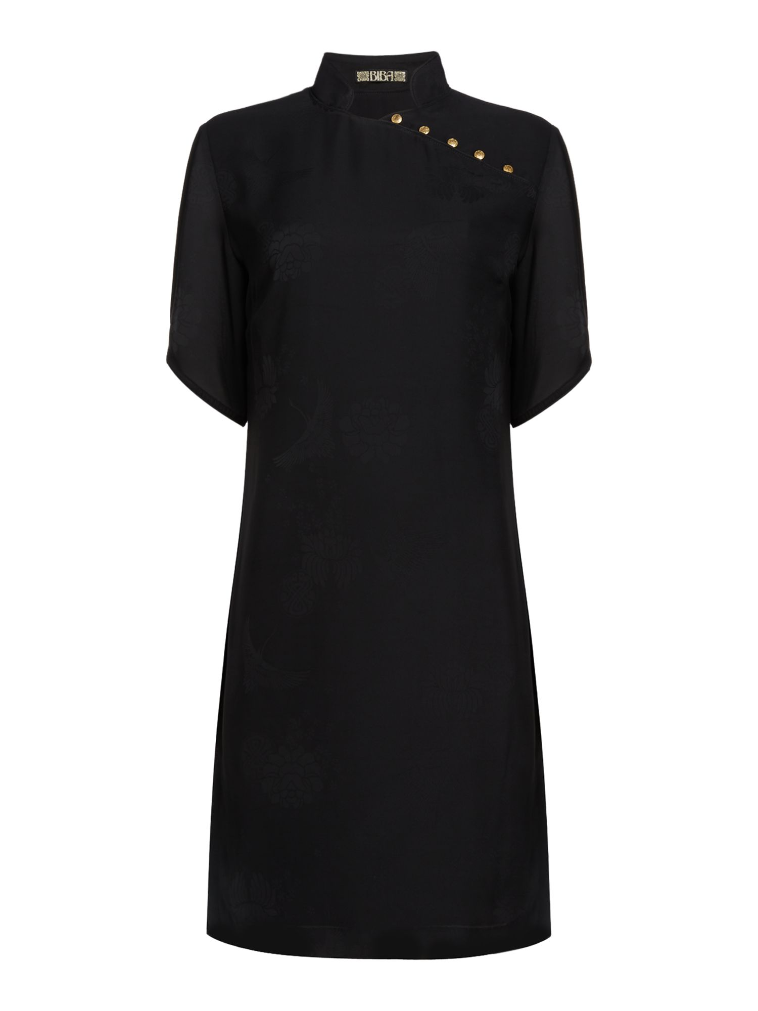 Biba Oriental jacquard dress, Black