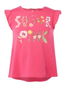 Sugar Pink Girls Pink Floral T-Shirt