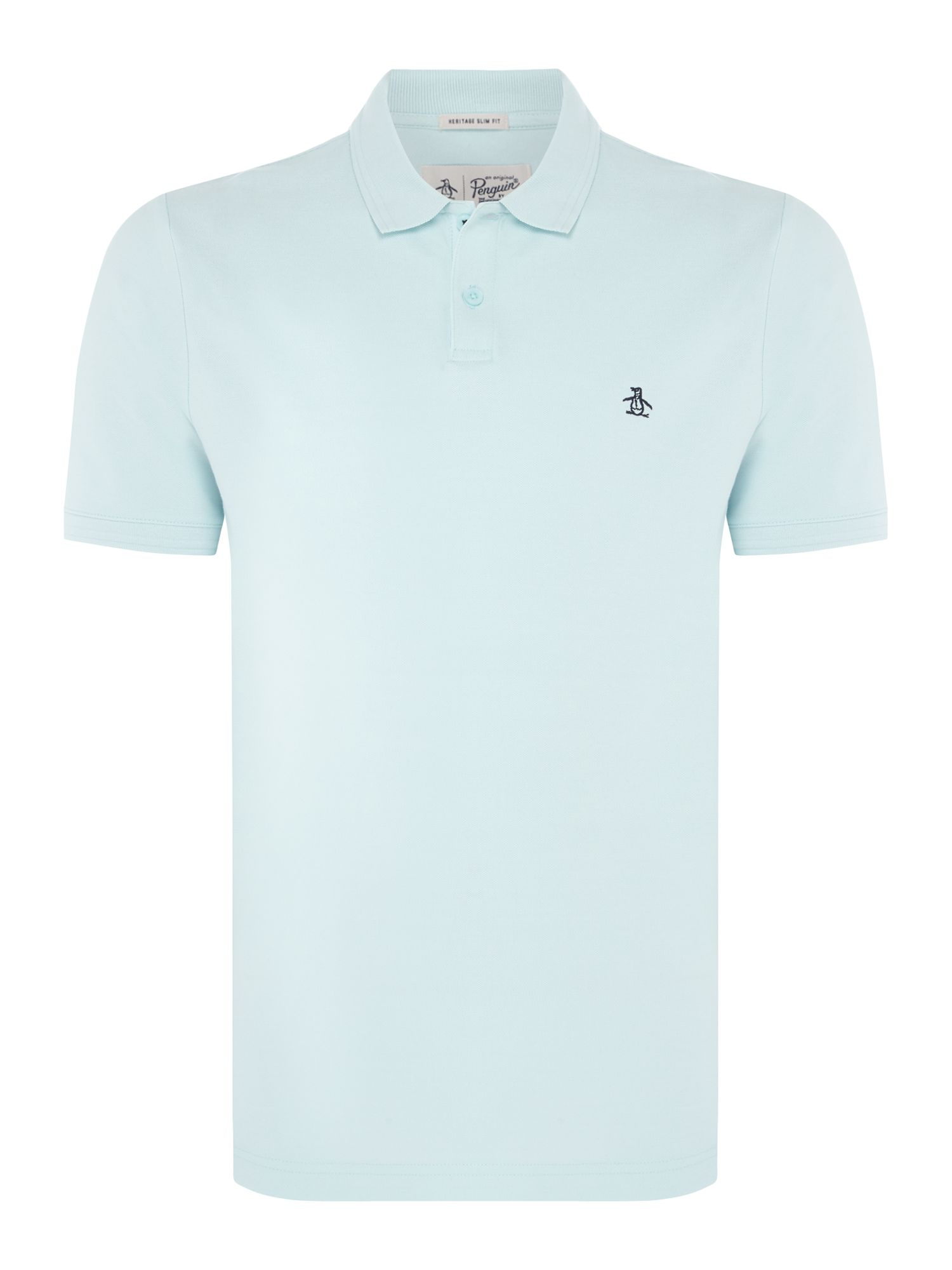 Men's Original Penguin Raised Rib Polo Shirt, Light Blue