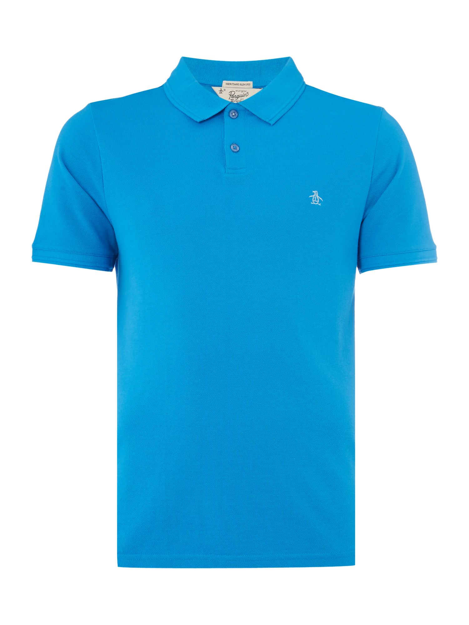 Men's Original Penguin Raised Rib Polo Shirt, Bright Blue