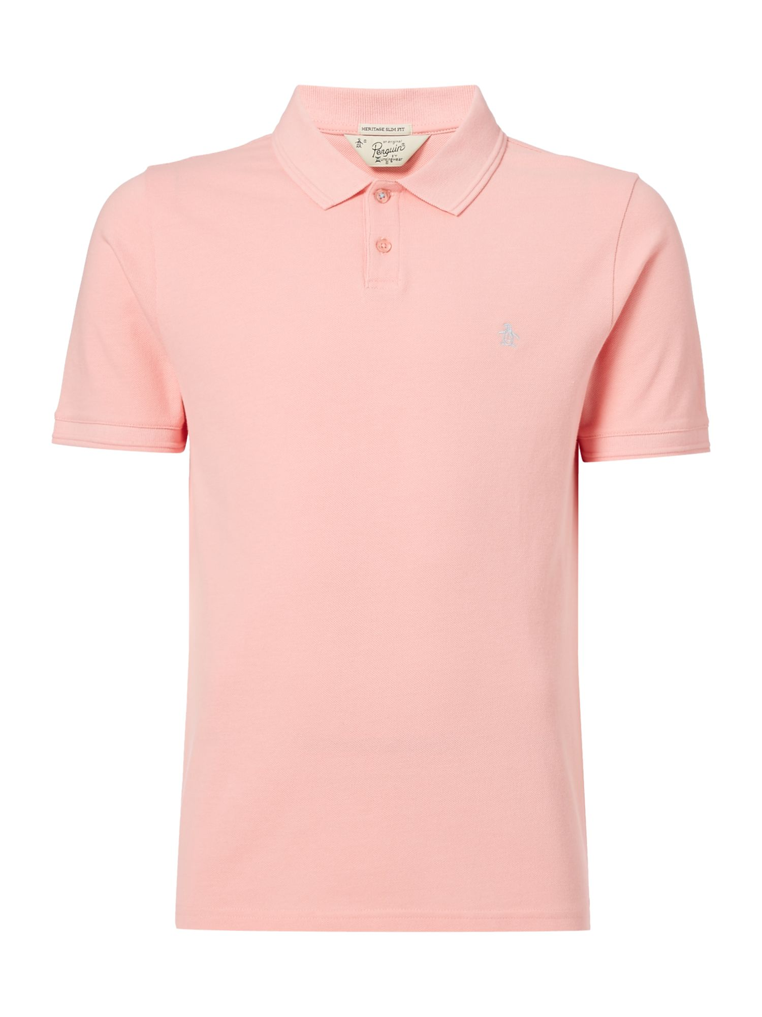 Men's Original Penguin Raised Rib Polo Shirt, Light Pink