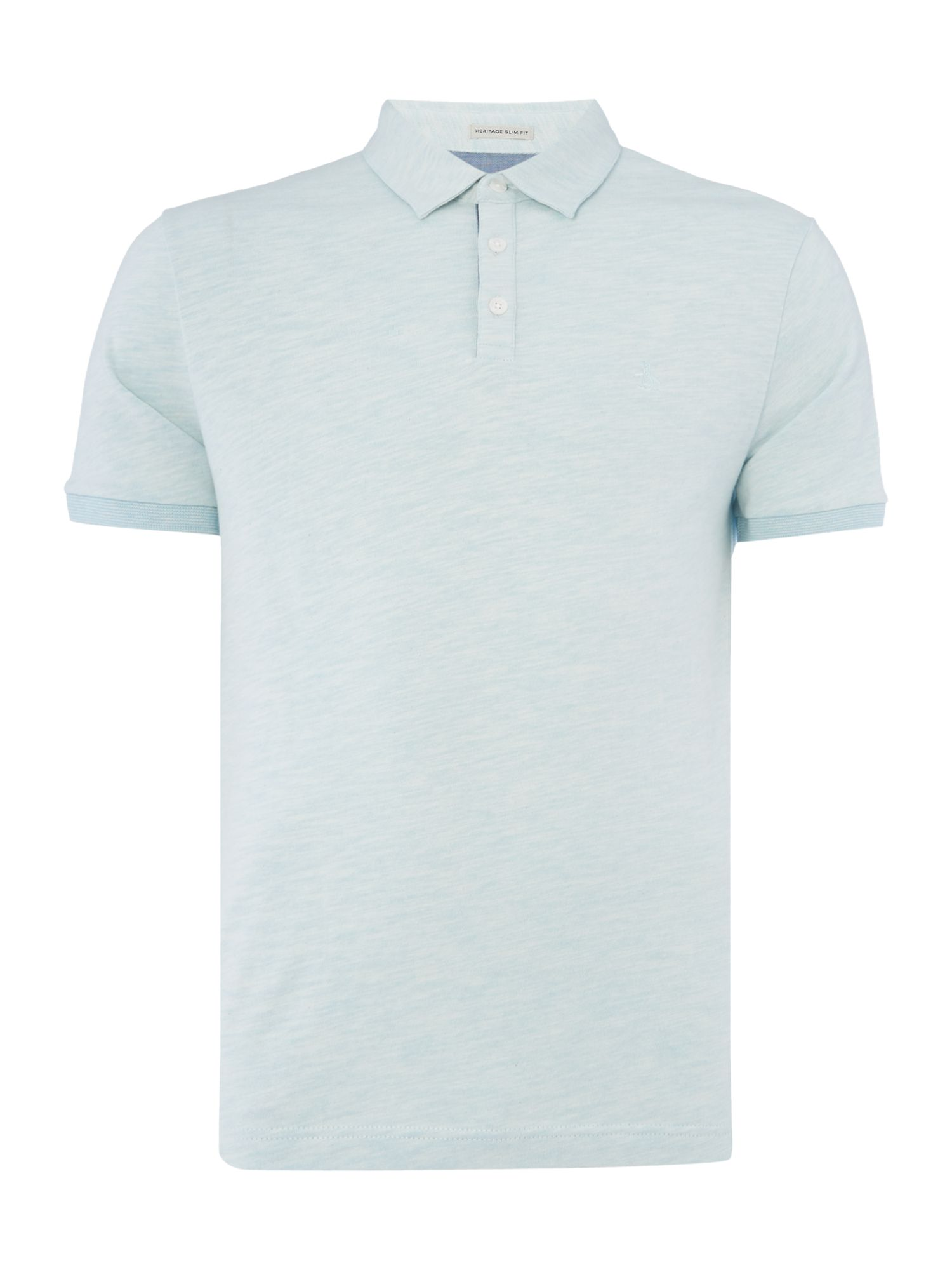 Men's Original Penguin Slub Jersey Polo Shirt, Light Blue