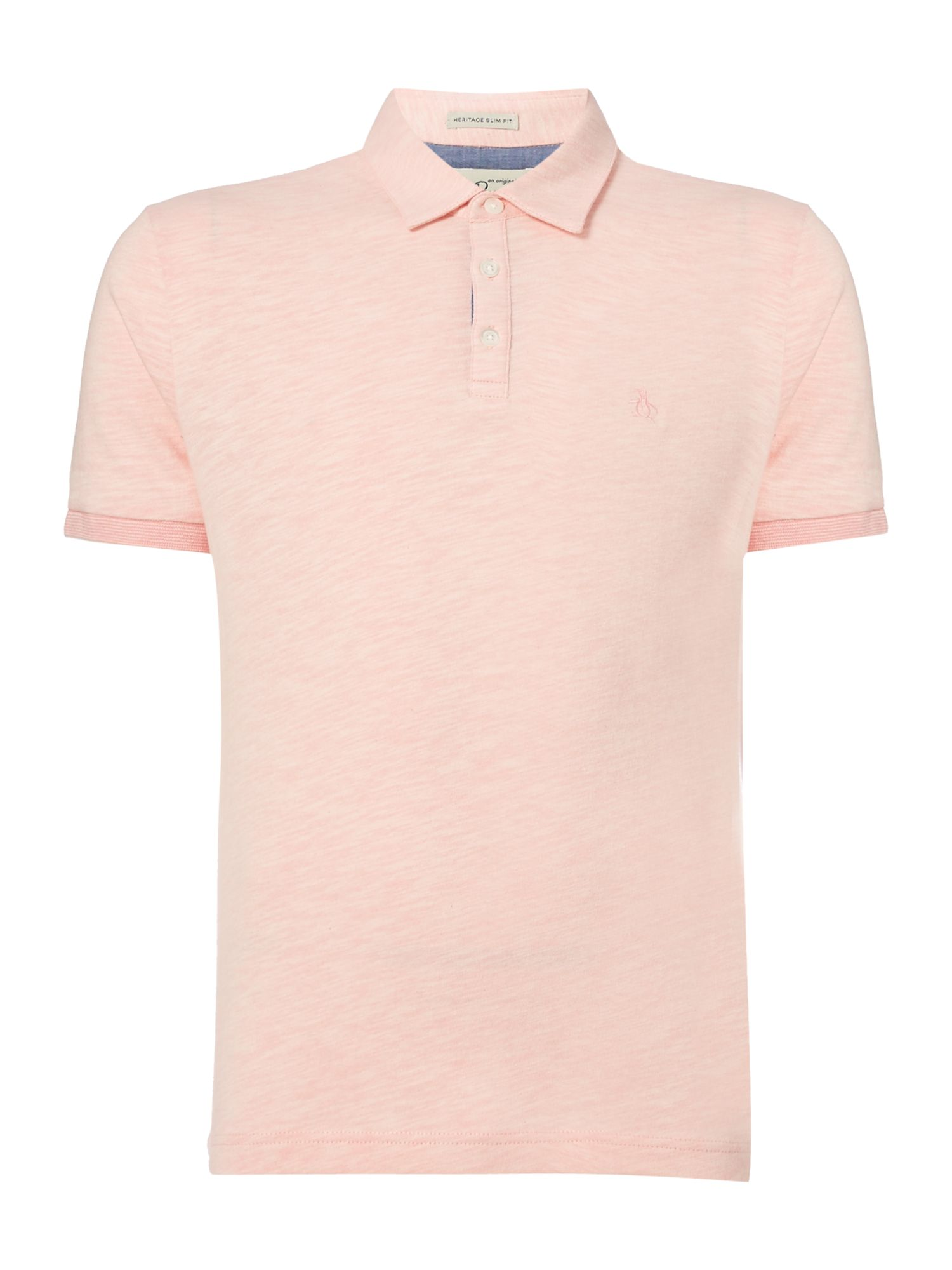 Men's Original Penguin Slub Jersey Polo Shirt, Light Pink