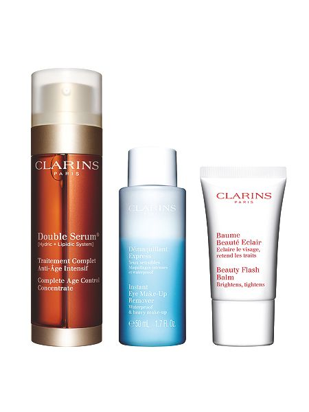clarins double serum 50ml gift set house of fraser. Black Bedroom Furniture Sets. Home Design Ideas
