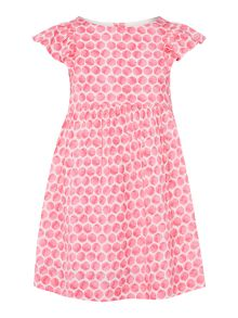 Joules Girls Woven Frill Spot Print Dress