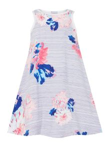 Joules Girls Flare Embrodiered Sleeveless Dress