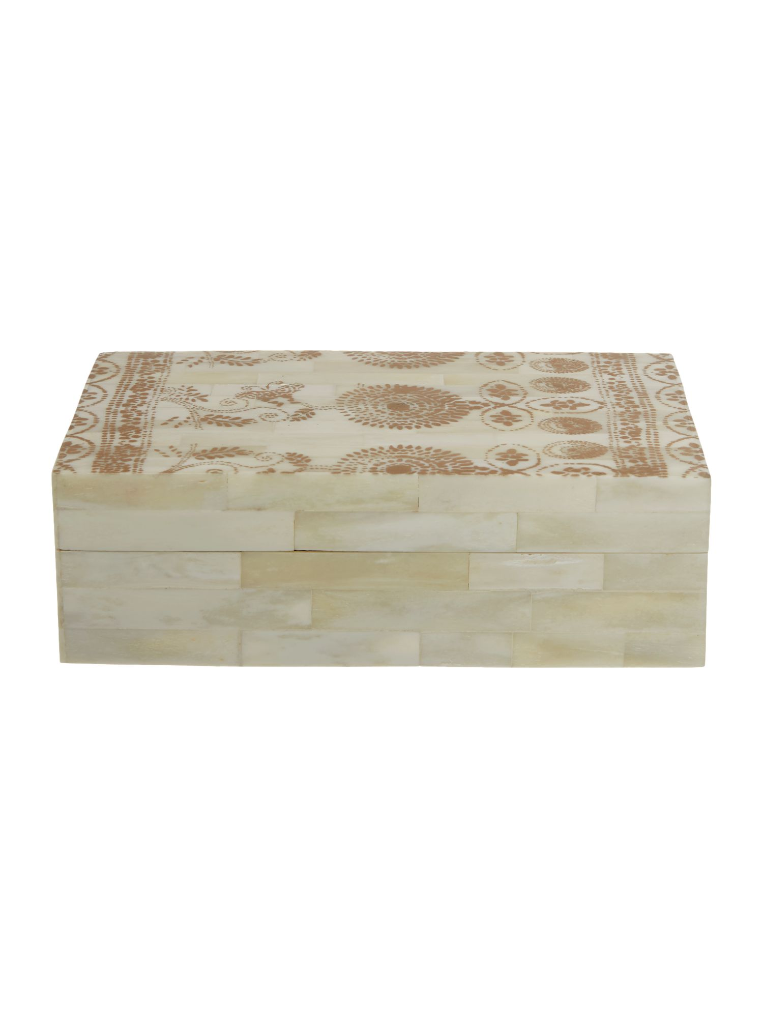Junipa Golden Floral Bone Box, N/A
