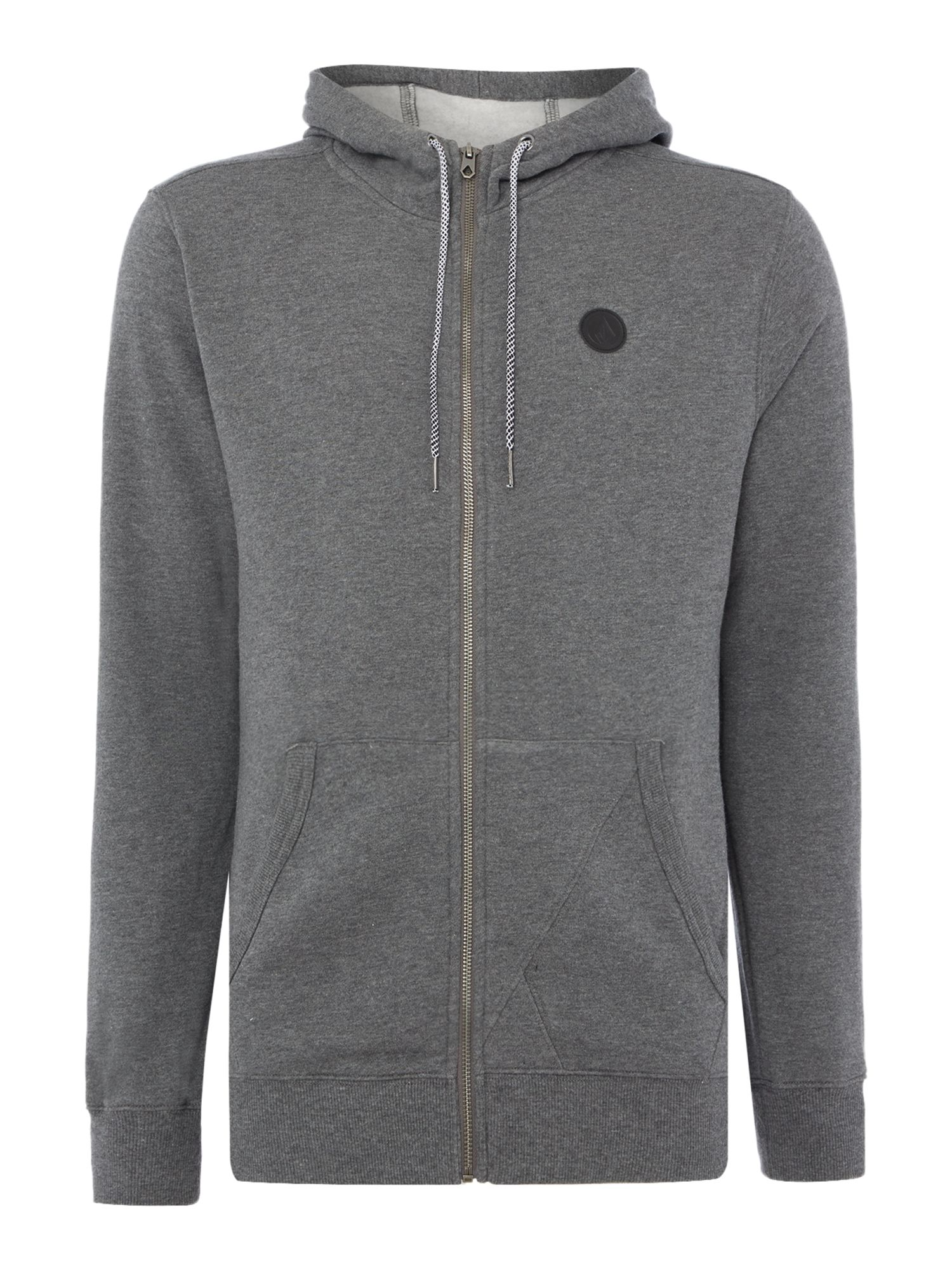 Men's Volcom Fleece fabric Zip-Up Hoodie, Dark Grey