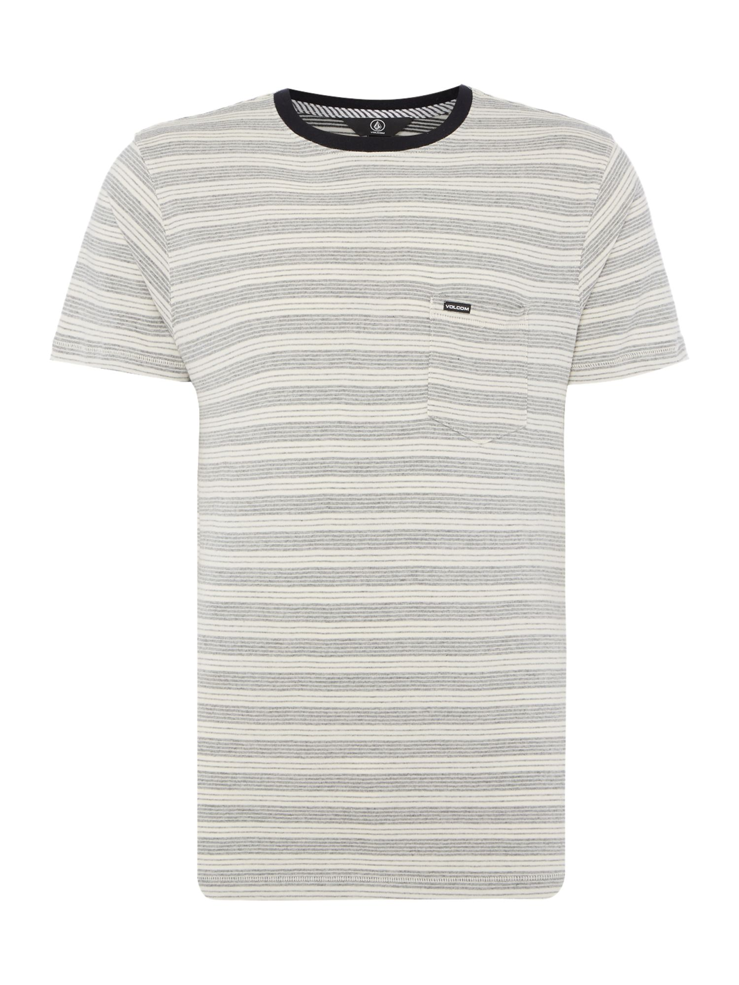 Men's Volcom Striped Crew-Neck T-Shirt, White