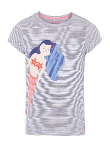 Joules Girls Stripe Mermaid T-Shirt