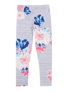 Joules Girls Stripe Floral Leggings