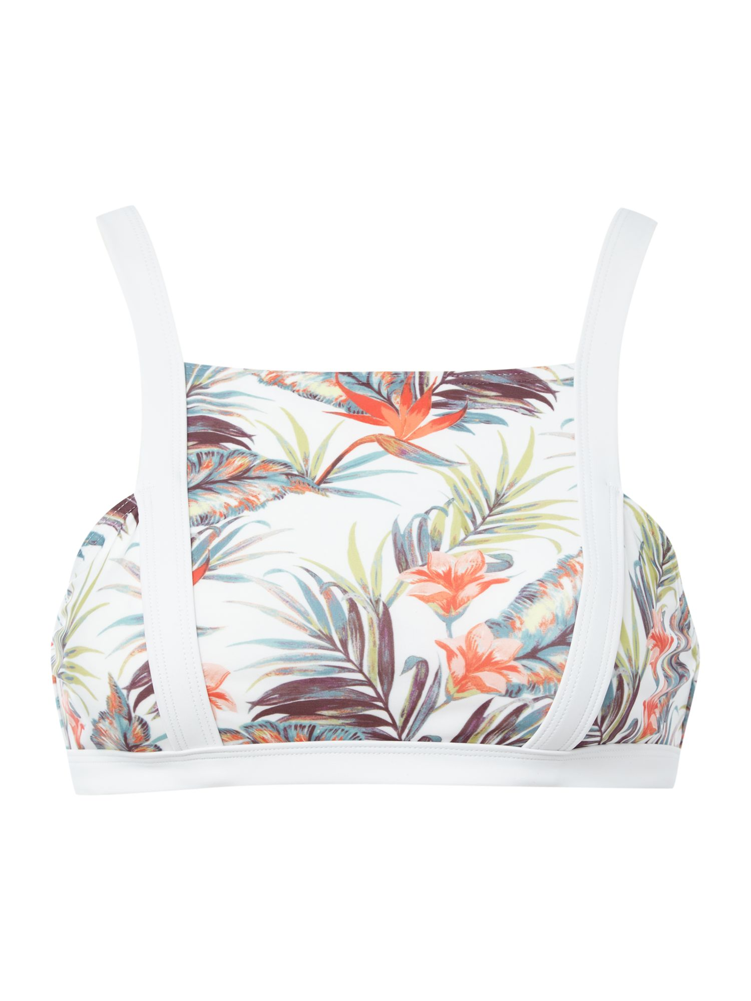 Mink Pink Avalon square bikini top, Multi-Coloured