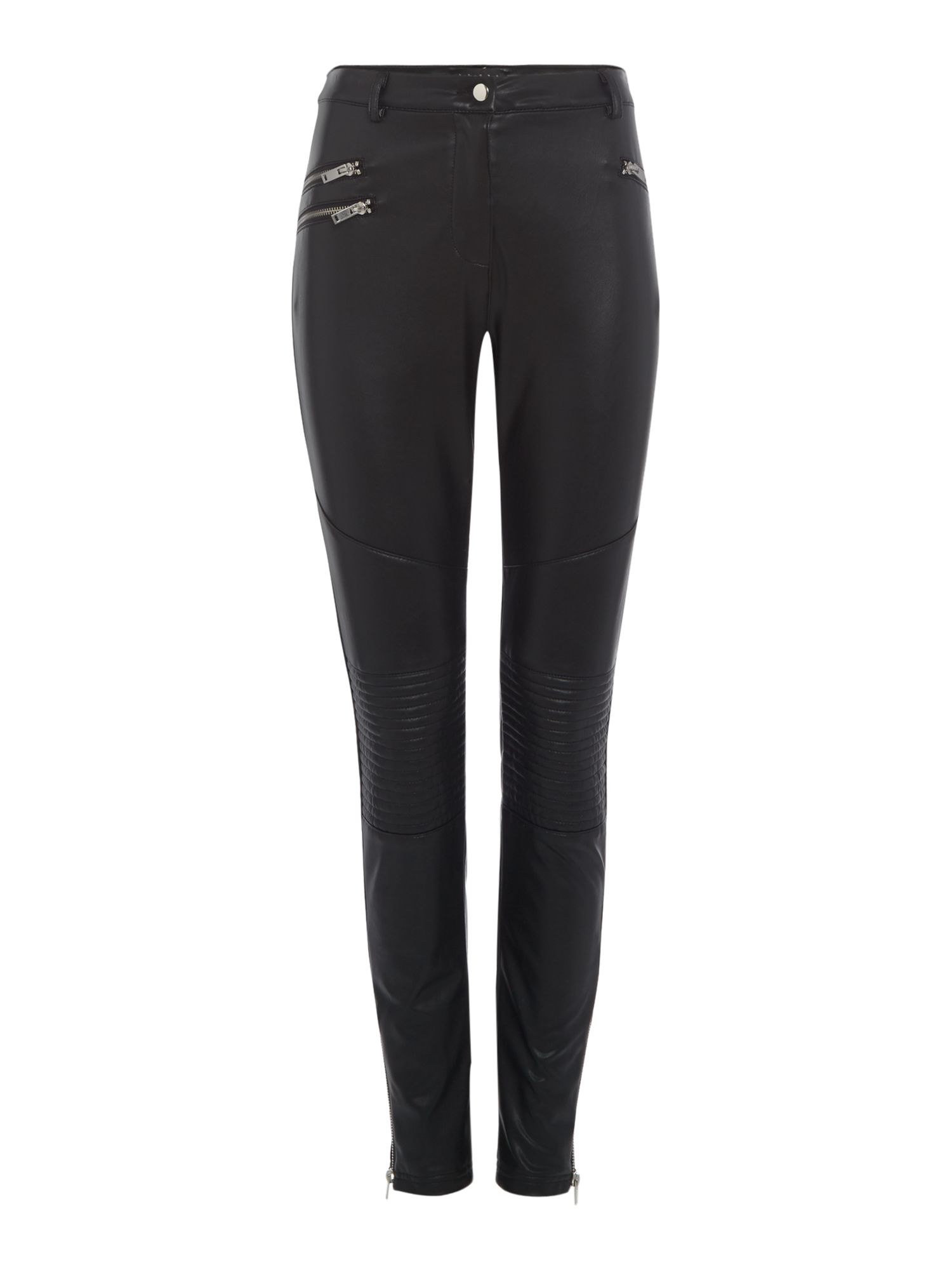 Label Lab PU Biker Trouser, Black