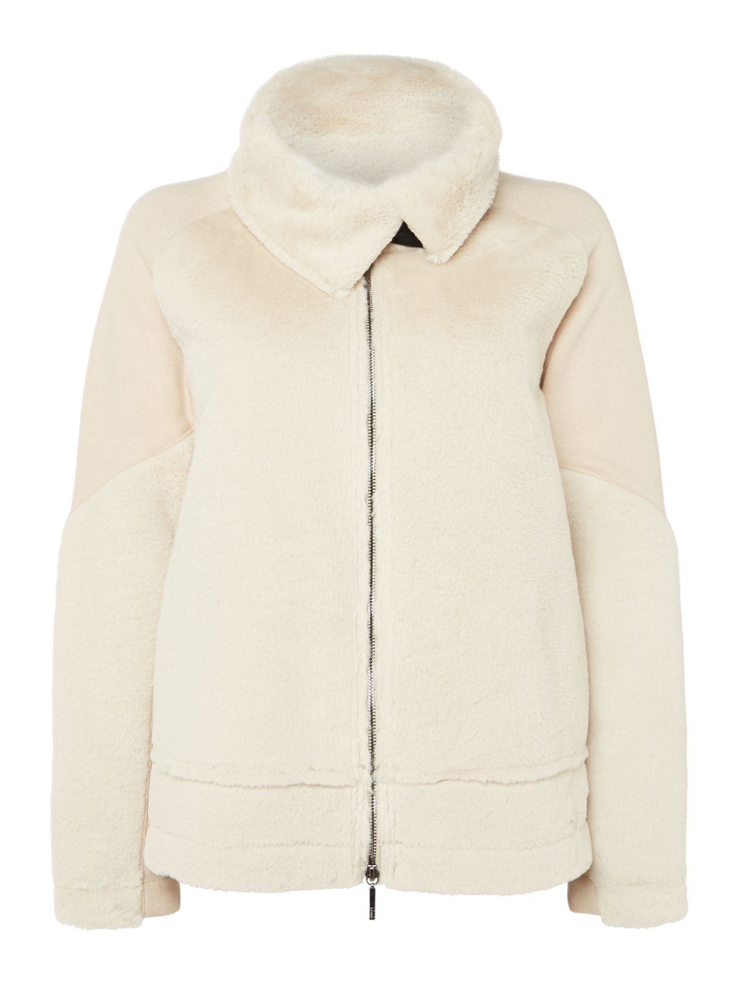 Armani Jeans Shearling jacket in beige chiaro, Off White