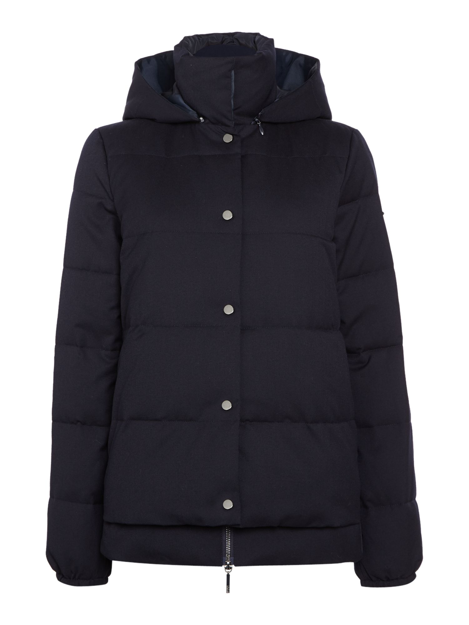 Armani Jeans Short padded hooded jacket in blu notte, Blue