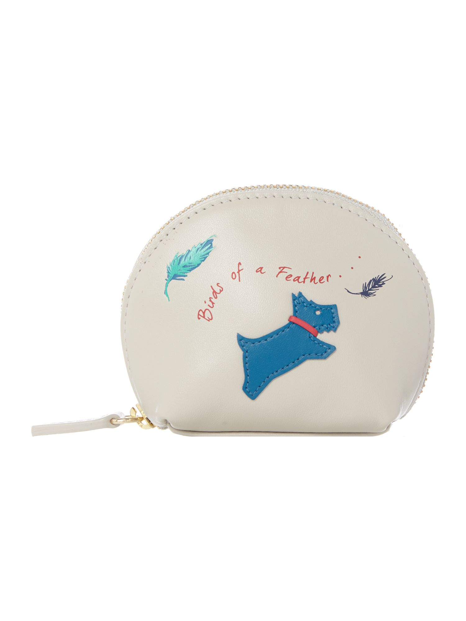 Radley Birds of a feather small zip around coin purse Natural