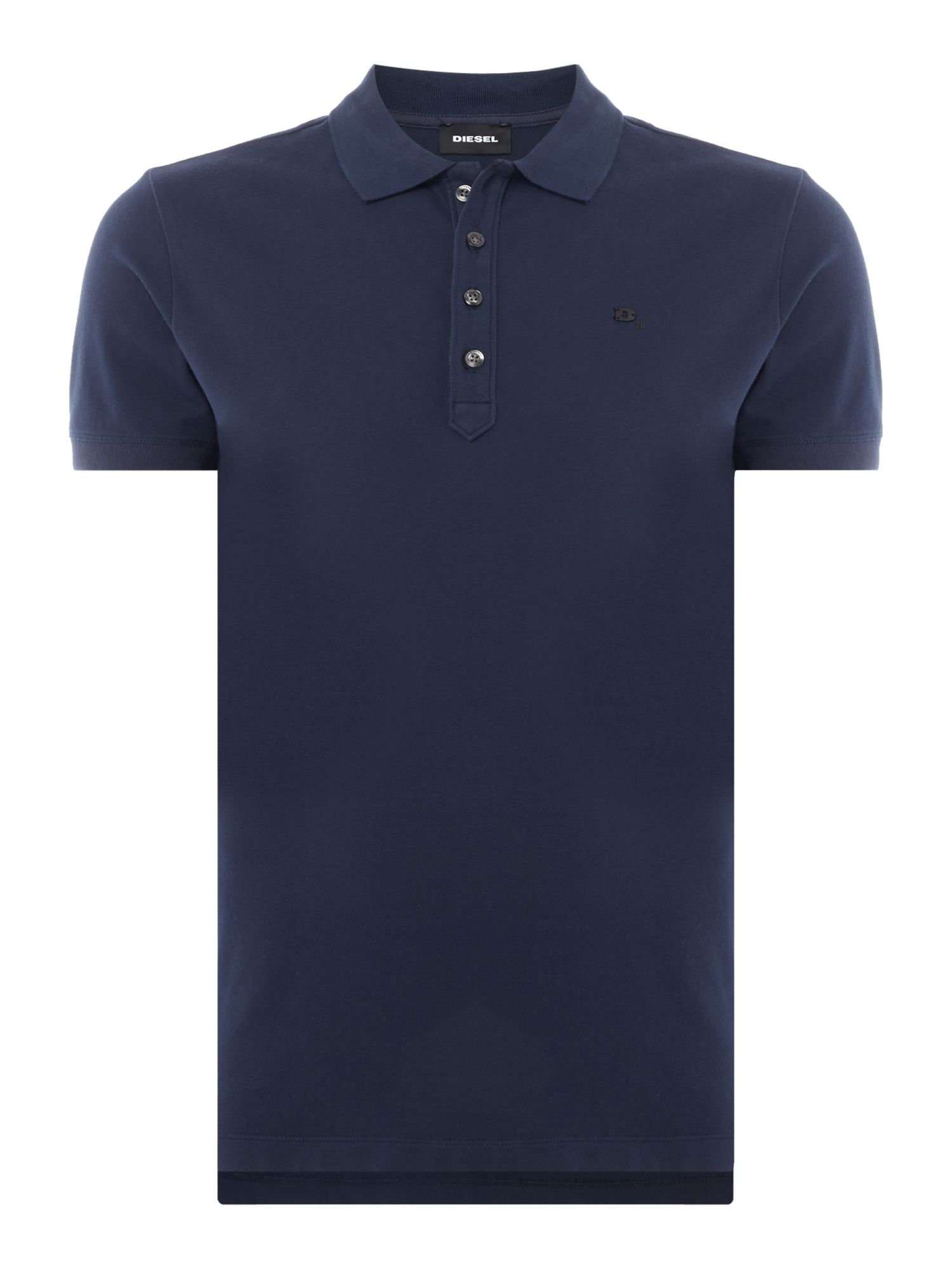 Men's Diesel T-Heal Logo Polo Shirt, Blue