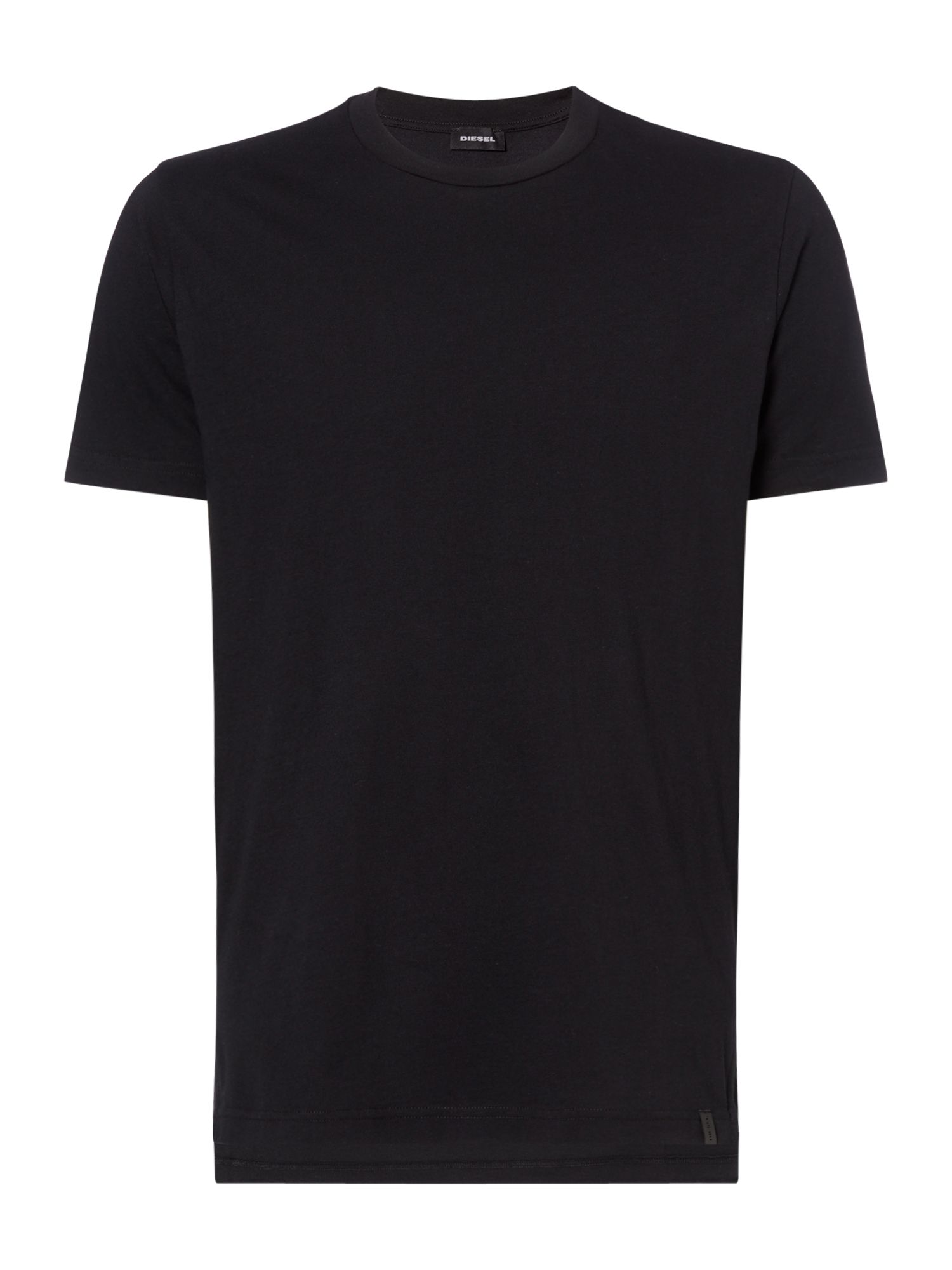 Men's Diesel Plain Crew Neck Tshirt, Black