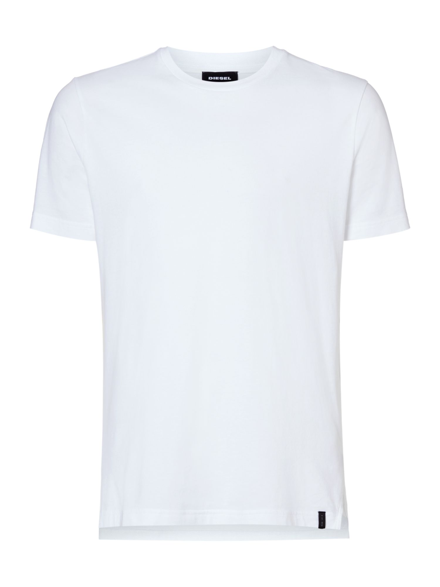 Men's Diesel Plain Crew Neck Tshirt, White