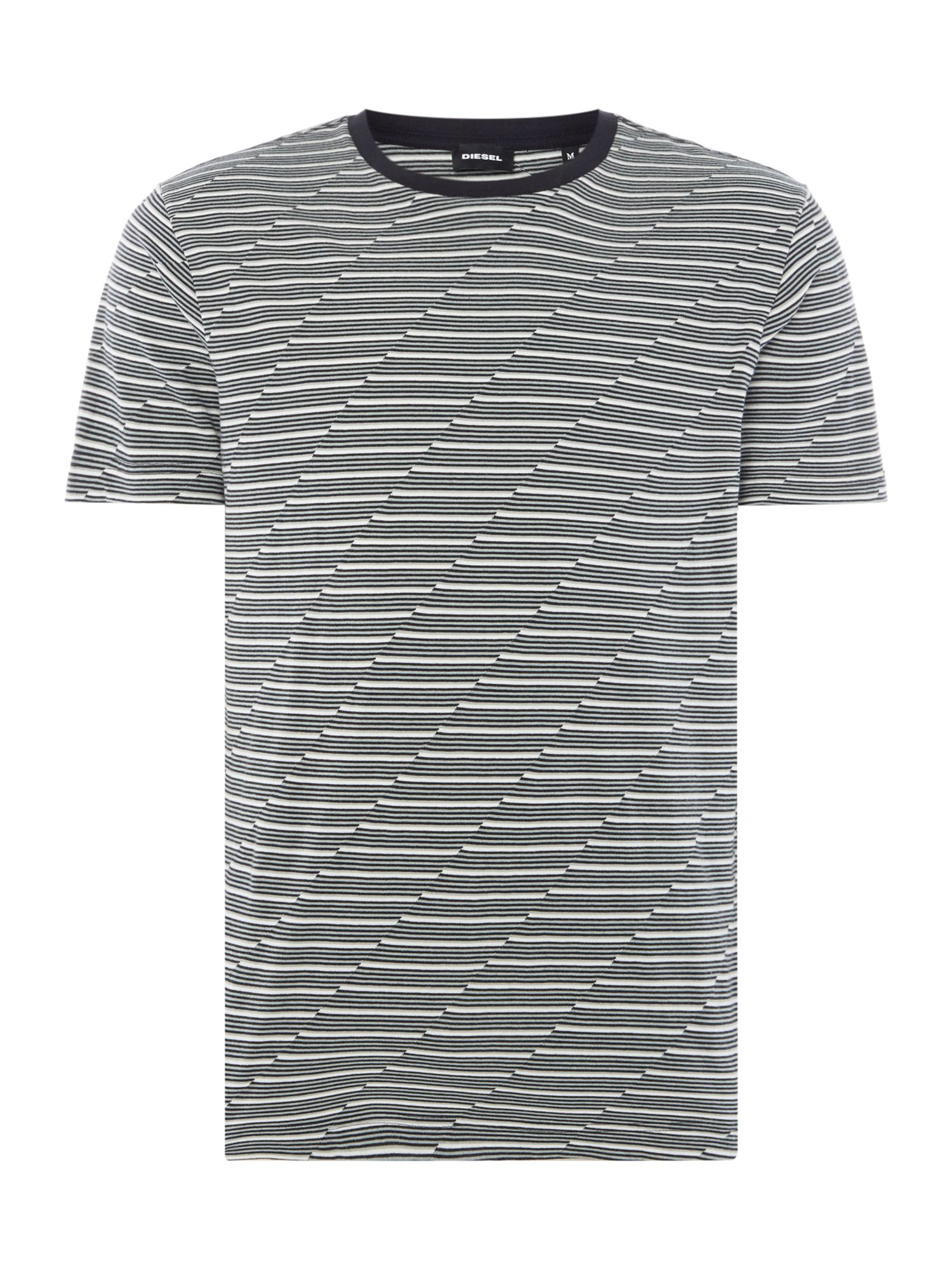 Men's Diesel Striped Tshirt, Black
