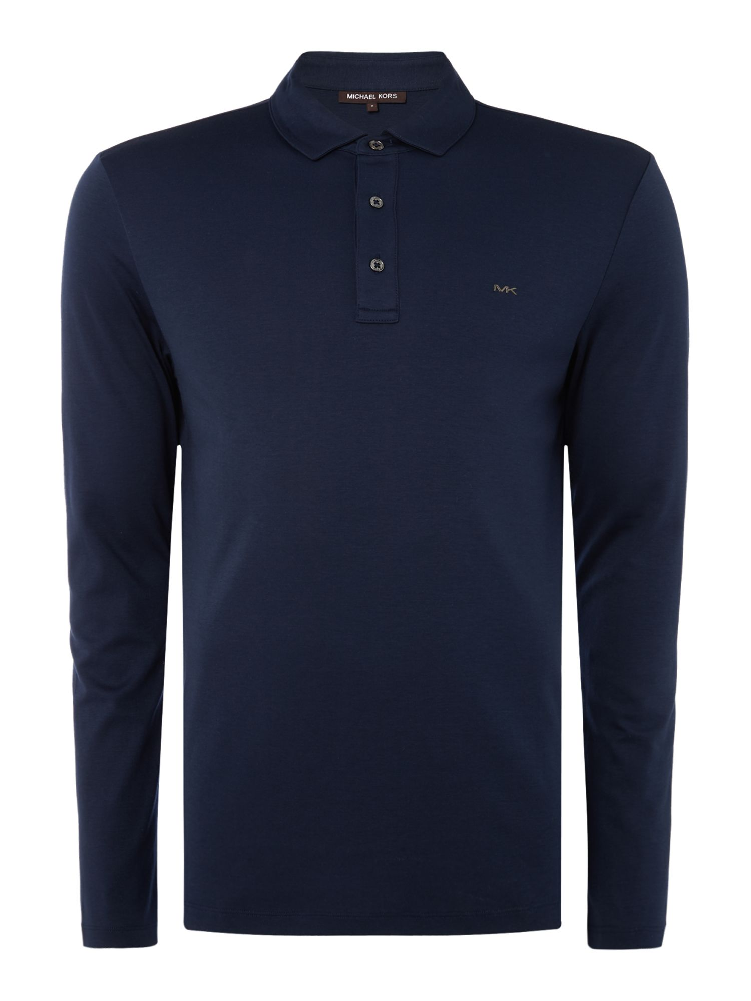 Men's Michael Kors Long Sleeve Slim Fit Polo Shirt, Blue