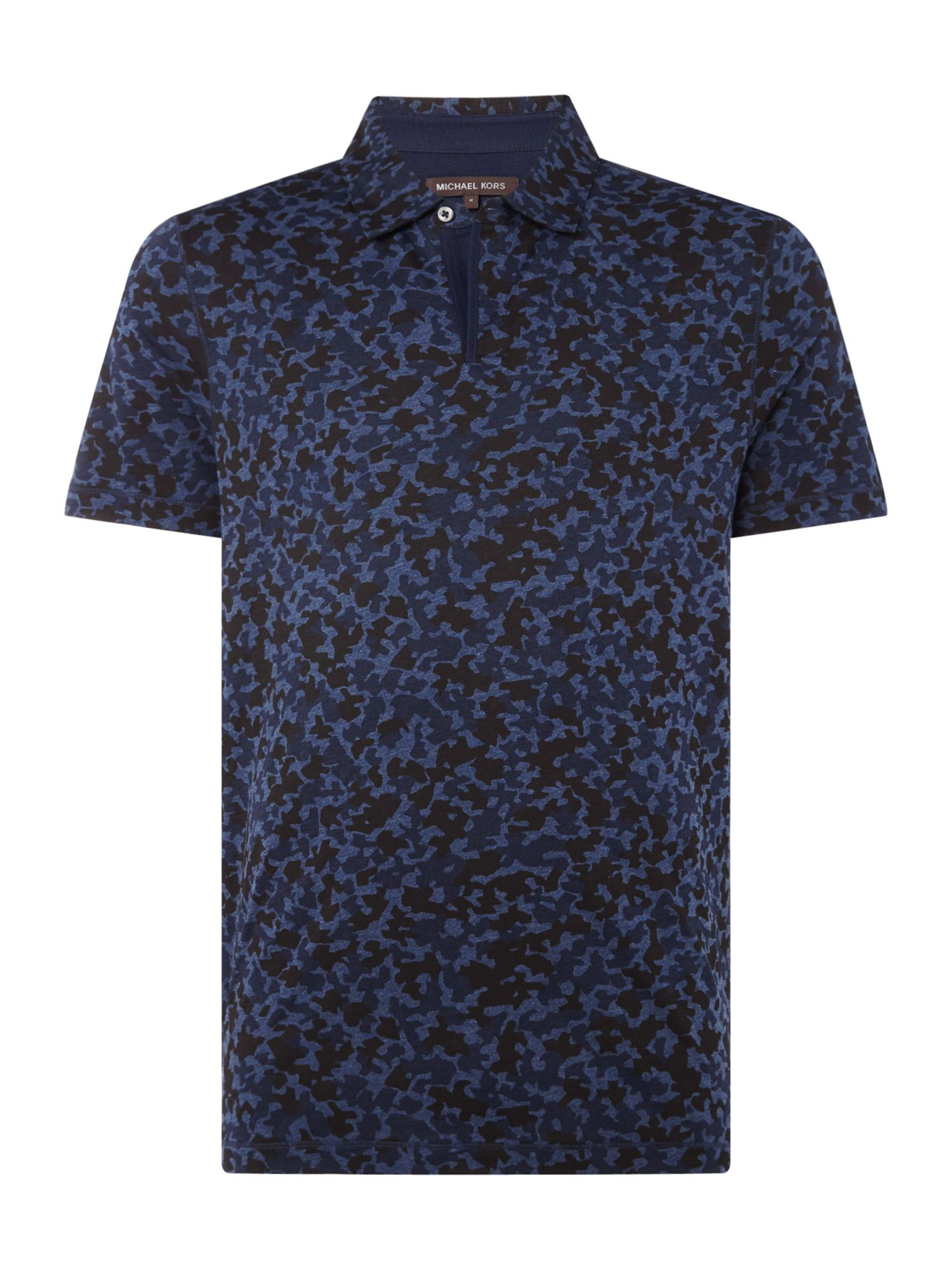 Men's Michael Kors Camo Print Polo Shirt, Blue