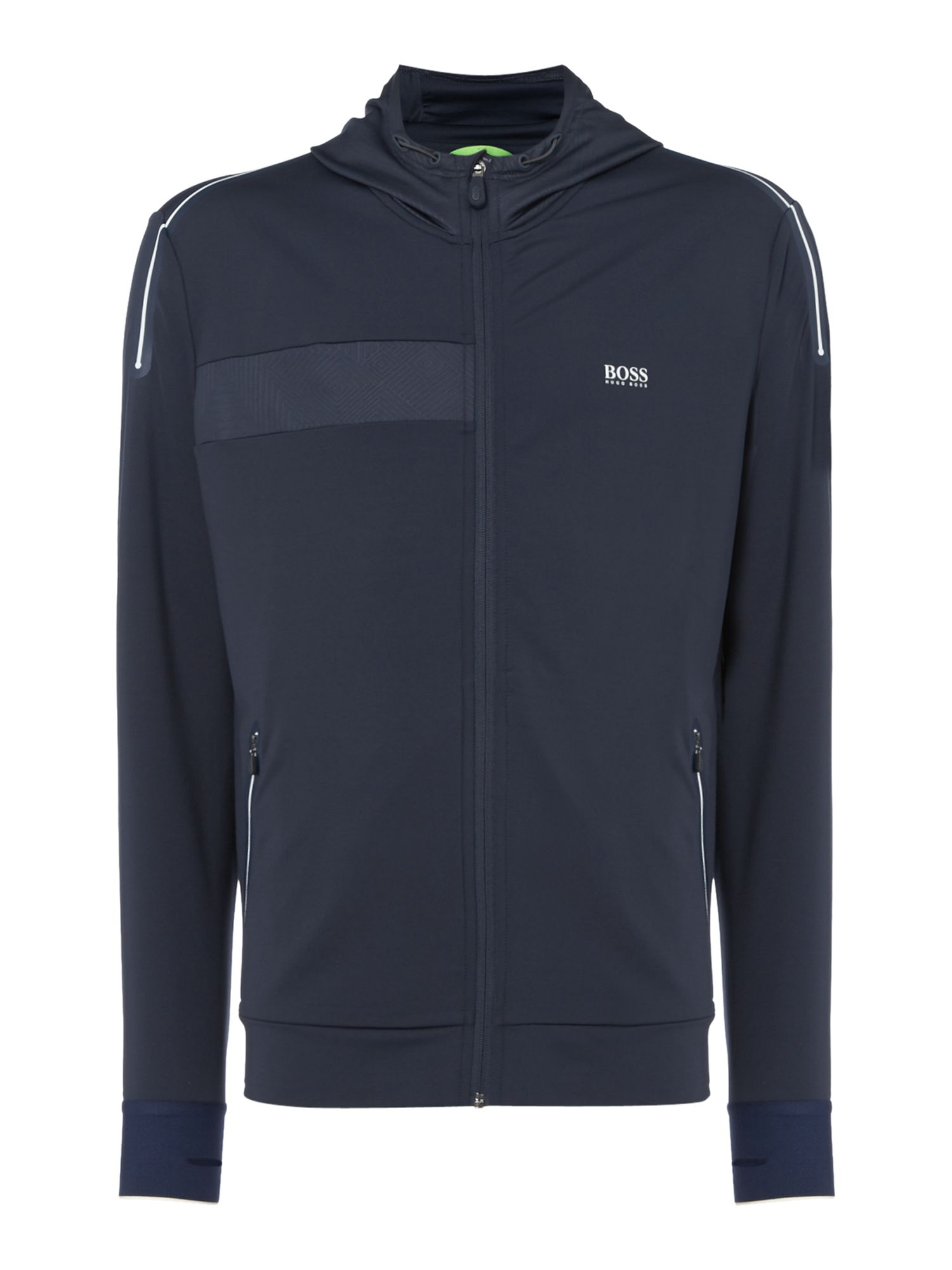 Men's Hugo Boss Saggytech technical zip-up hoody, Blue