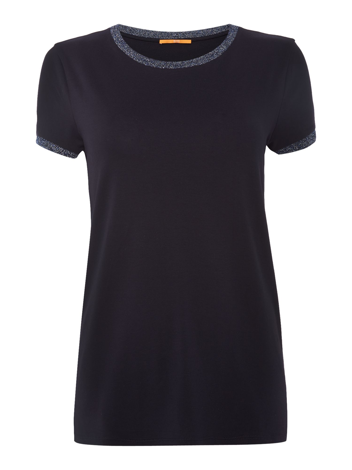 Hugo Boss Tacrew Crew Neck Top in Dark Blue, Dark Blue