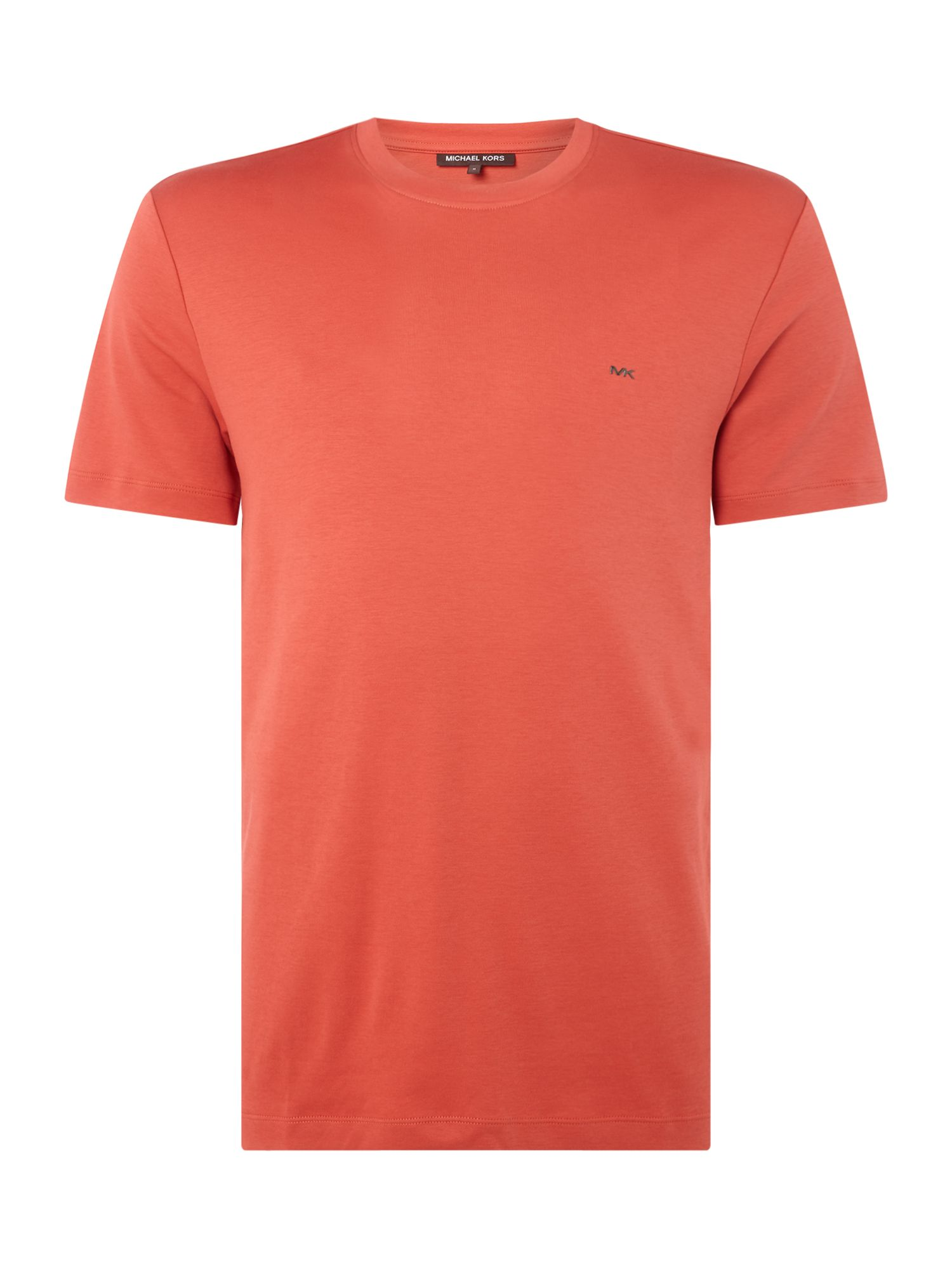 Men's Michael Kors Sleek Crew Neck T-Shirt, Baked Red