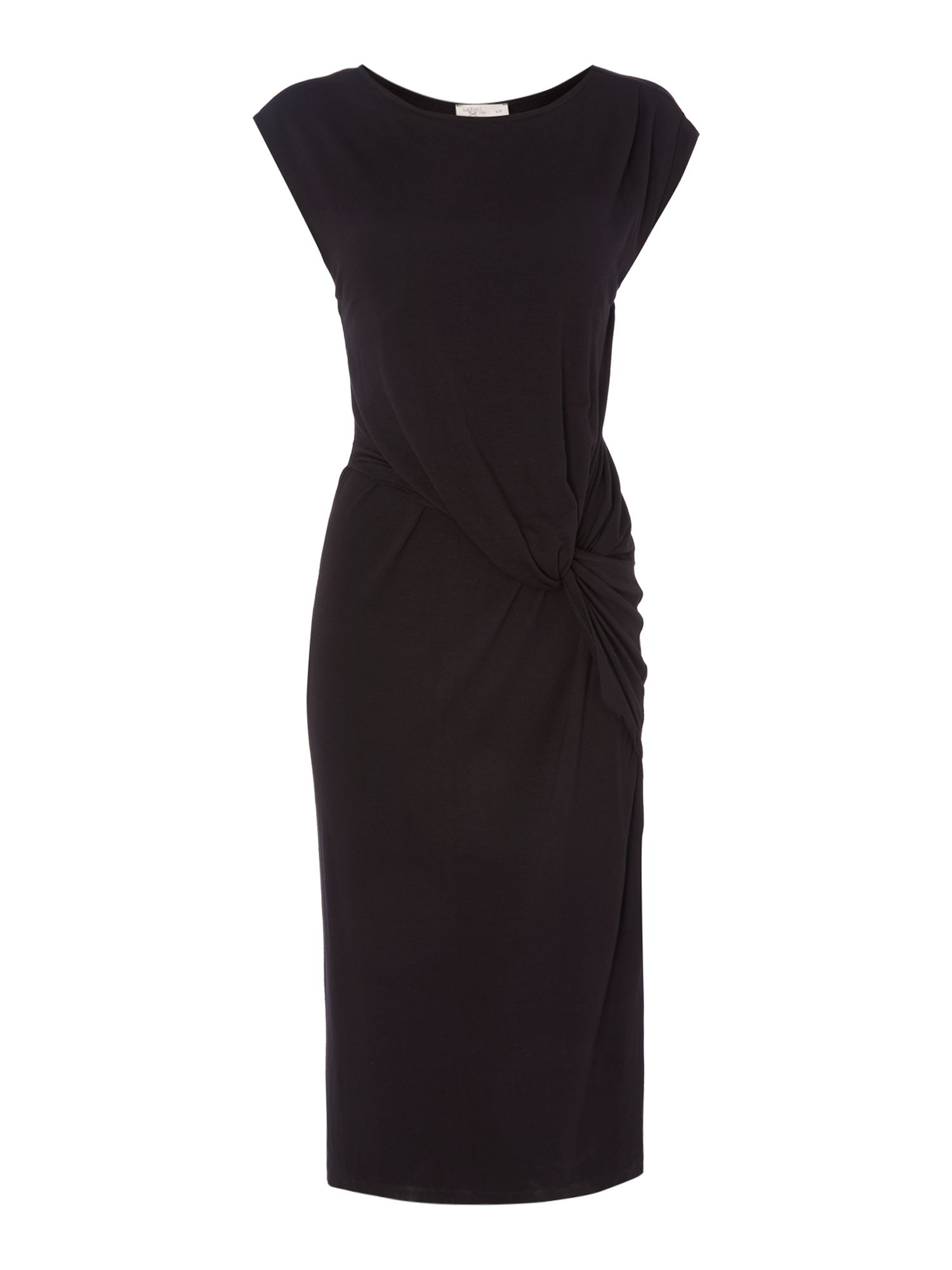 Label Lab Twist Jersey Dress, Black
