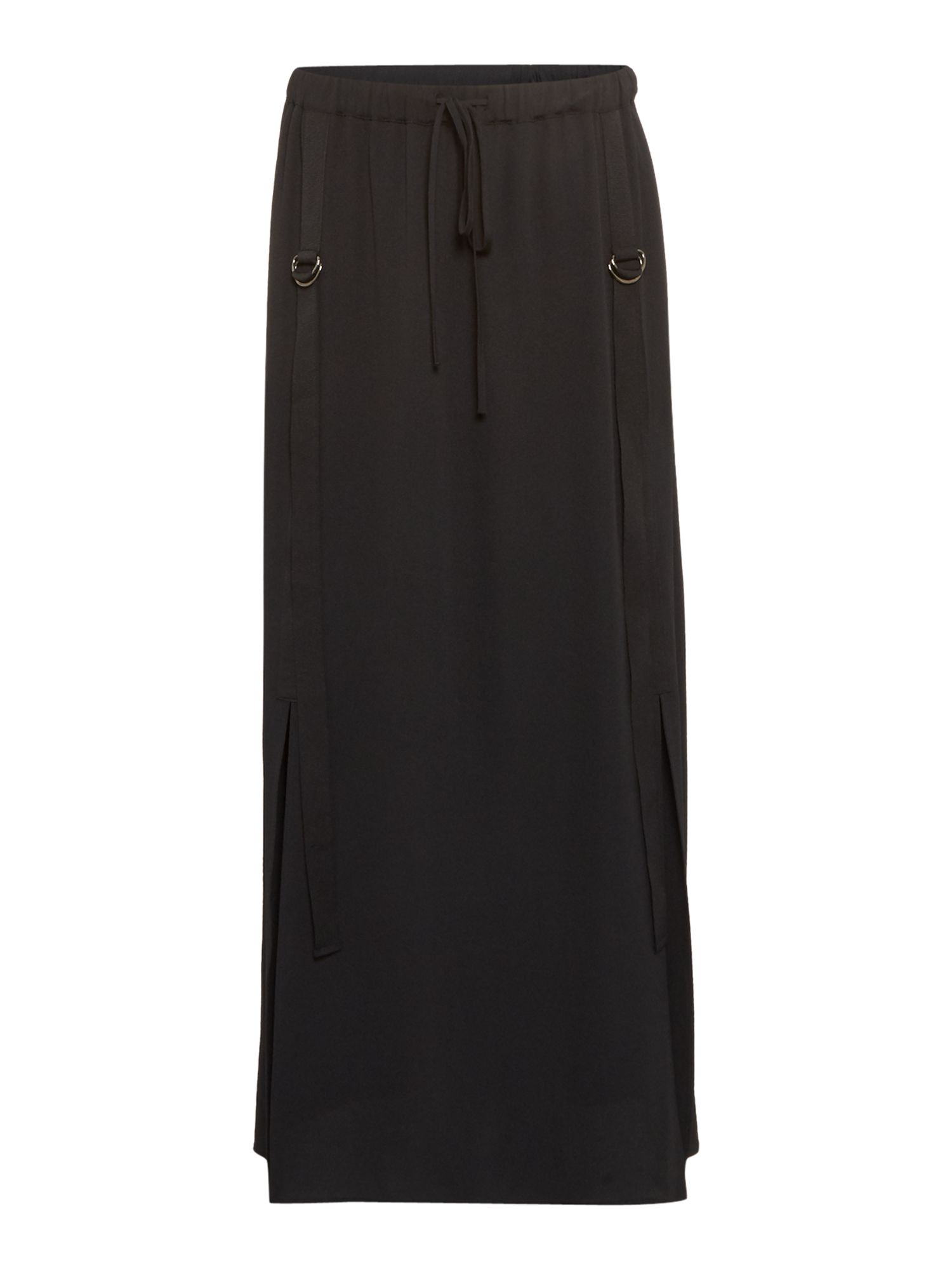 Label Lab D-Ring Detail Maxi Skirt, Black