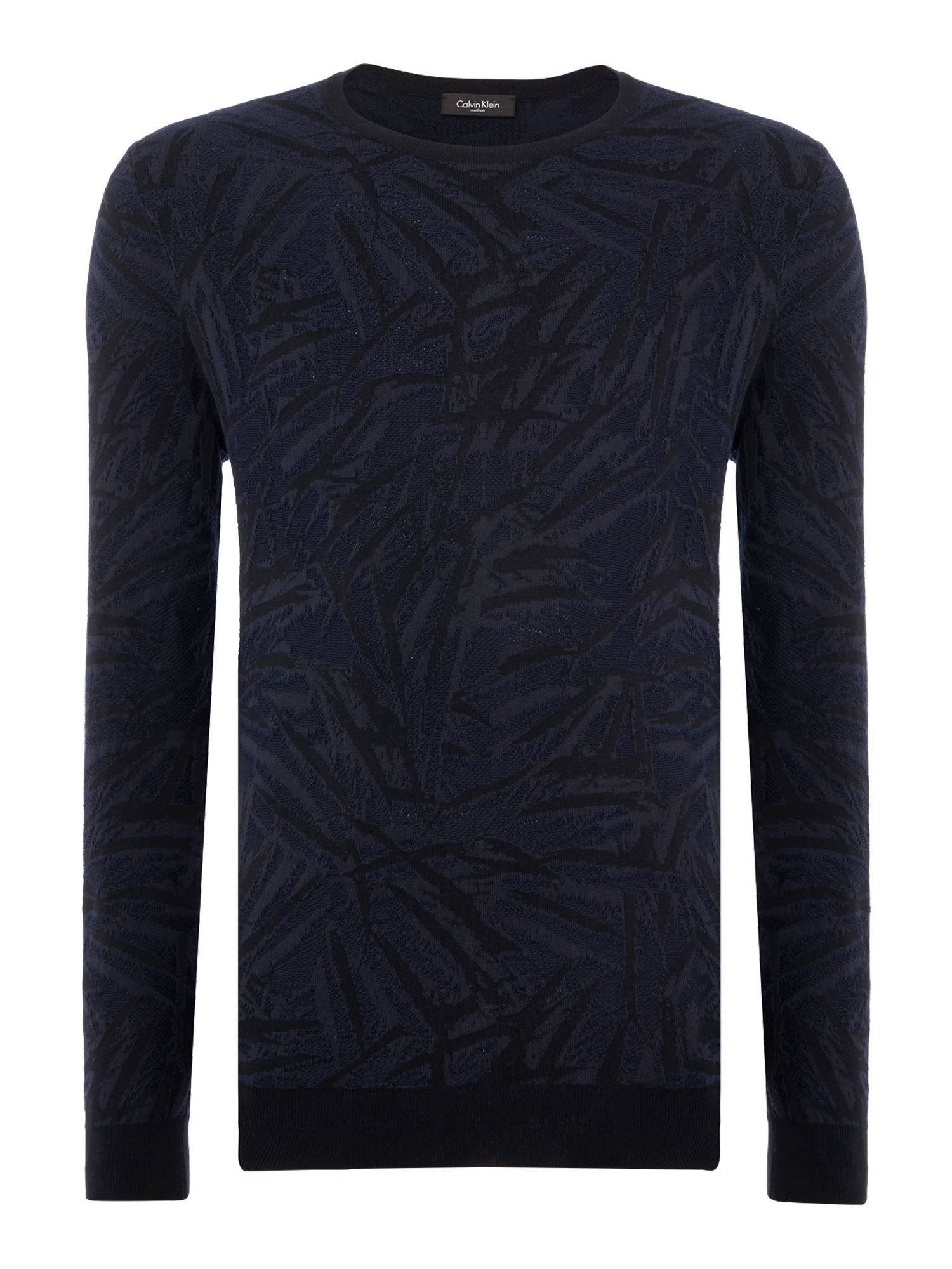 Men's Calvin Klein Sapak Leaf Sweater, Black