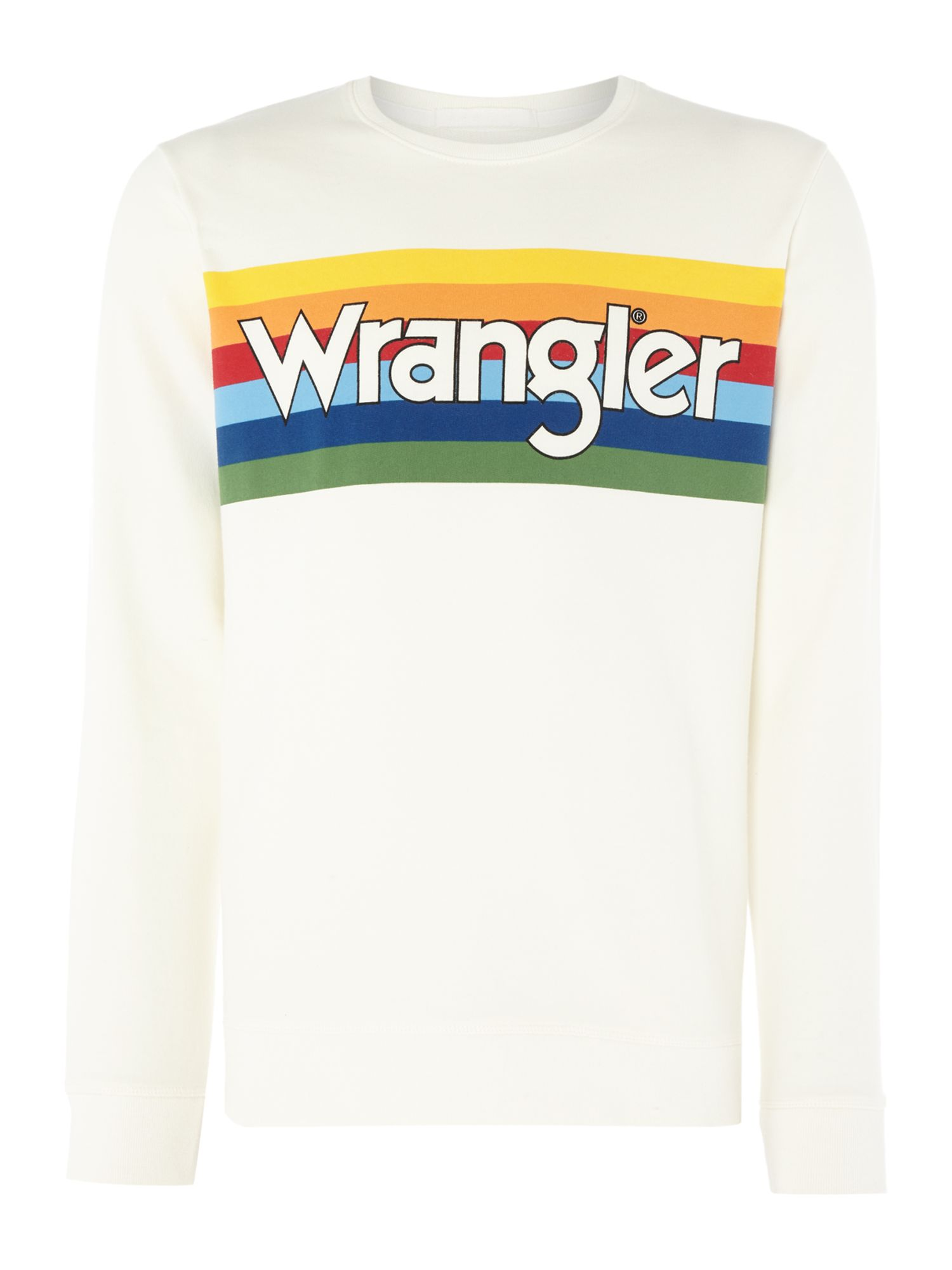 Men's Wrangler Rainbow Logo Sweatshirt, Off White