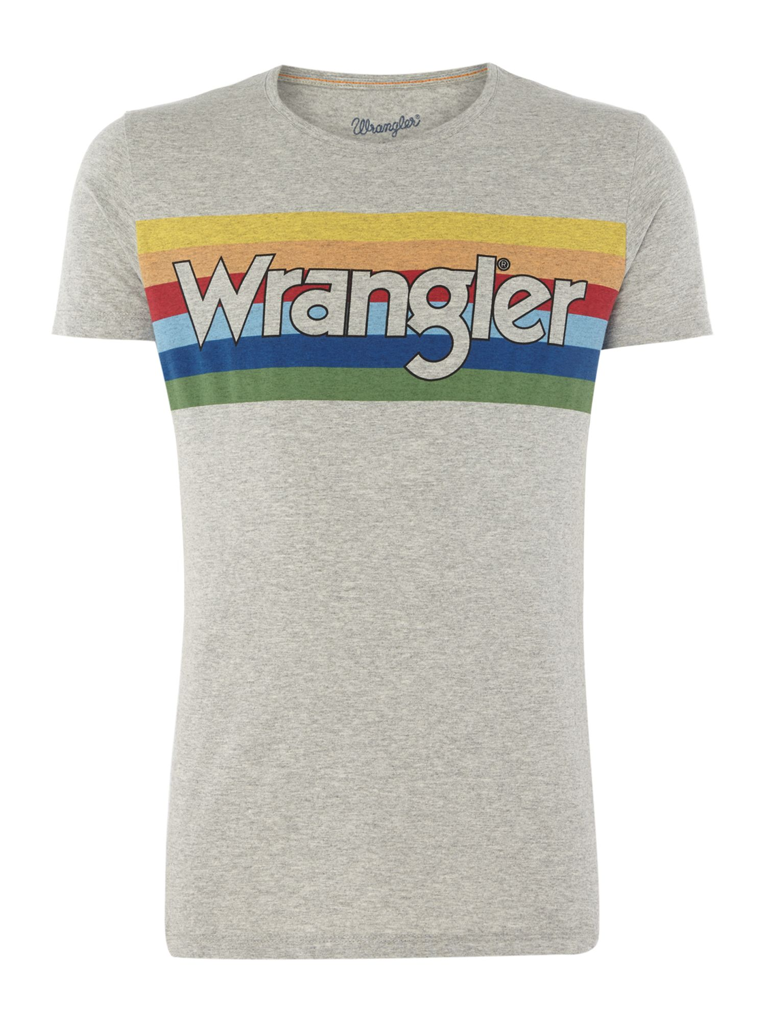 Men's Wrangler Rainbow Logo T-Shirt, Grey