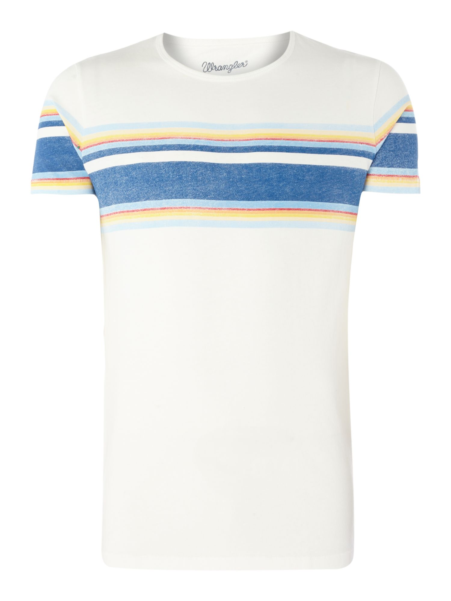 Men's Wrangler Retro Striped Short Sleeve T-Shirt, Off White