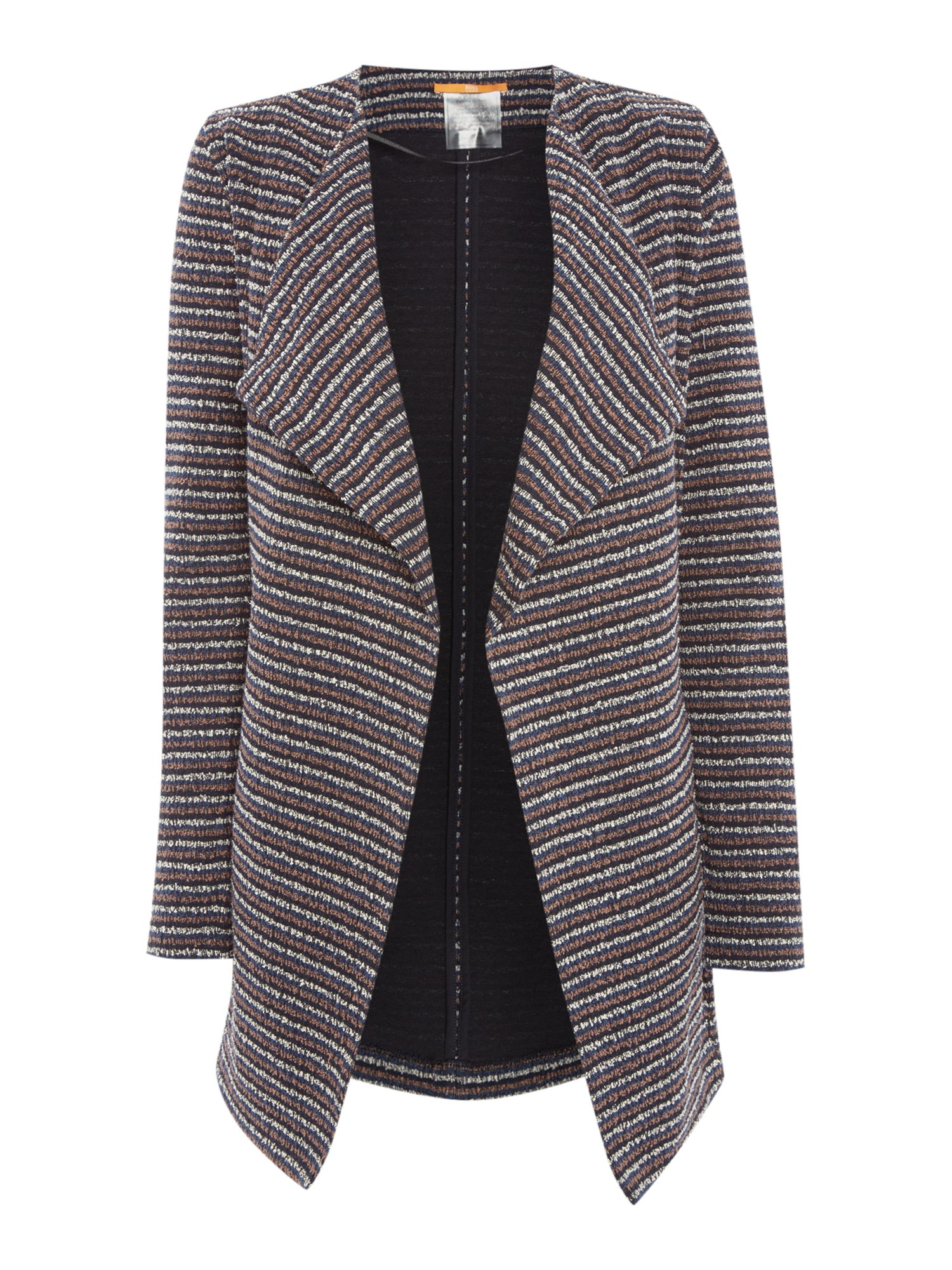 Hugo Boss Tivera Knitted Jacket in Dark Blue, Dark Blue