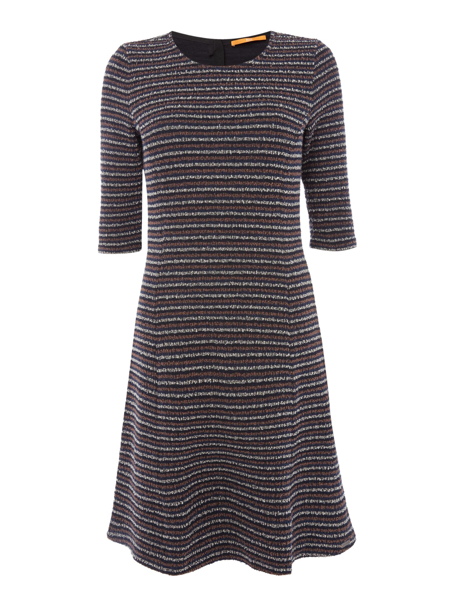 Hugo Boss Dacoca Knitted Crew Neck Dress in Dark Blue, Dark Blue