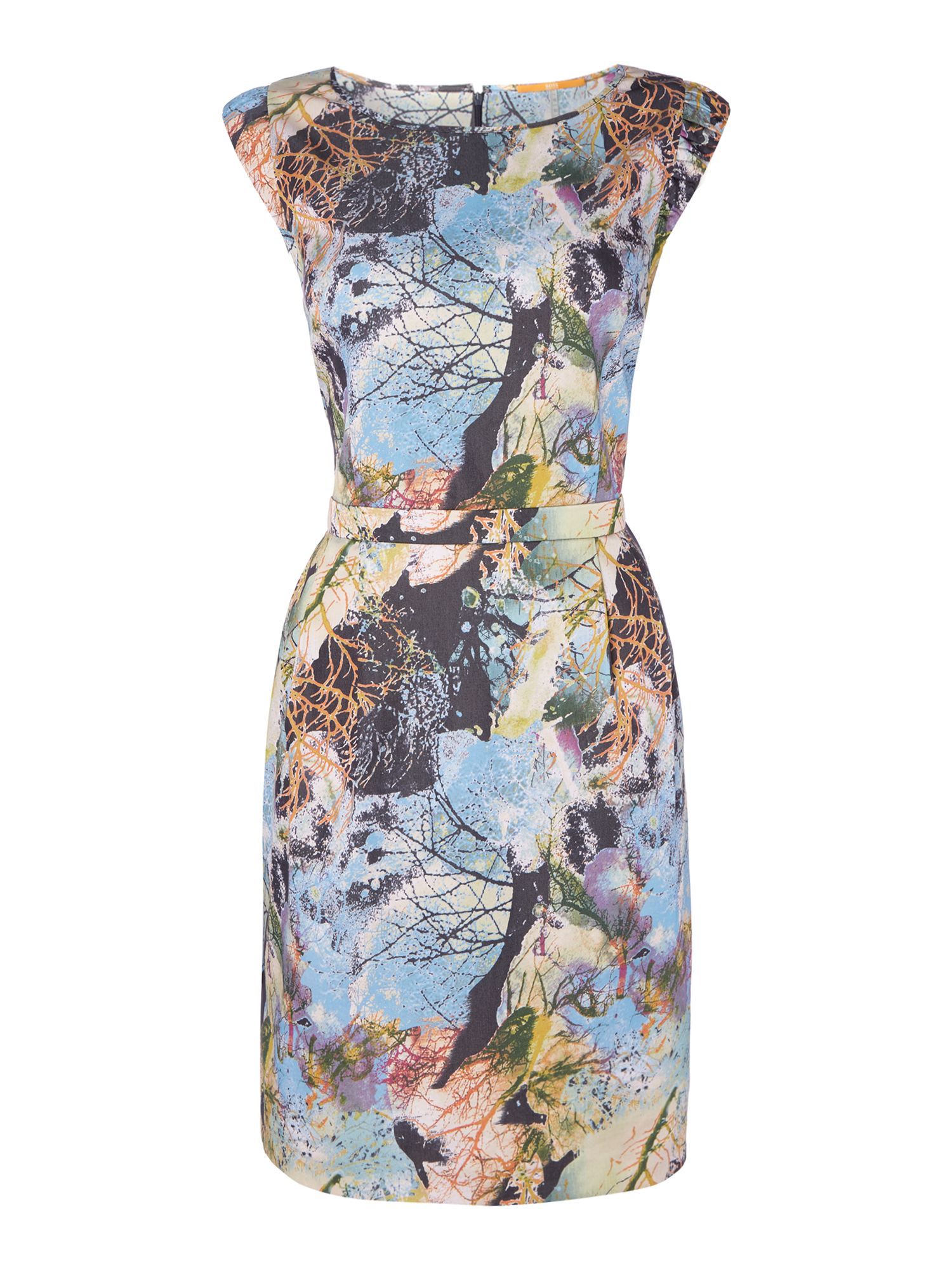 Hugo Boss Aday Printed Dress in Open Miscellaneous, Multi-Coloured