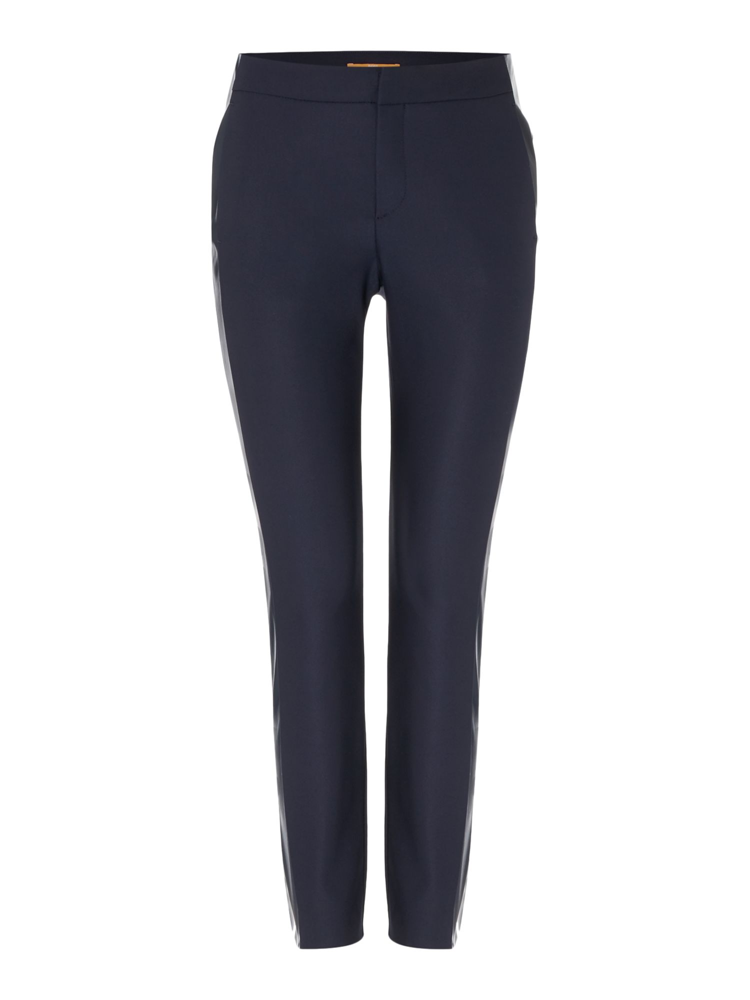 Hugo Boss Siledana Straight Trousers in Dark Blue, Dark Blue
