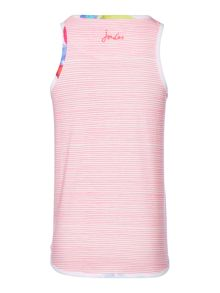 Joules Girls Floral Front Stripe Back Vest