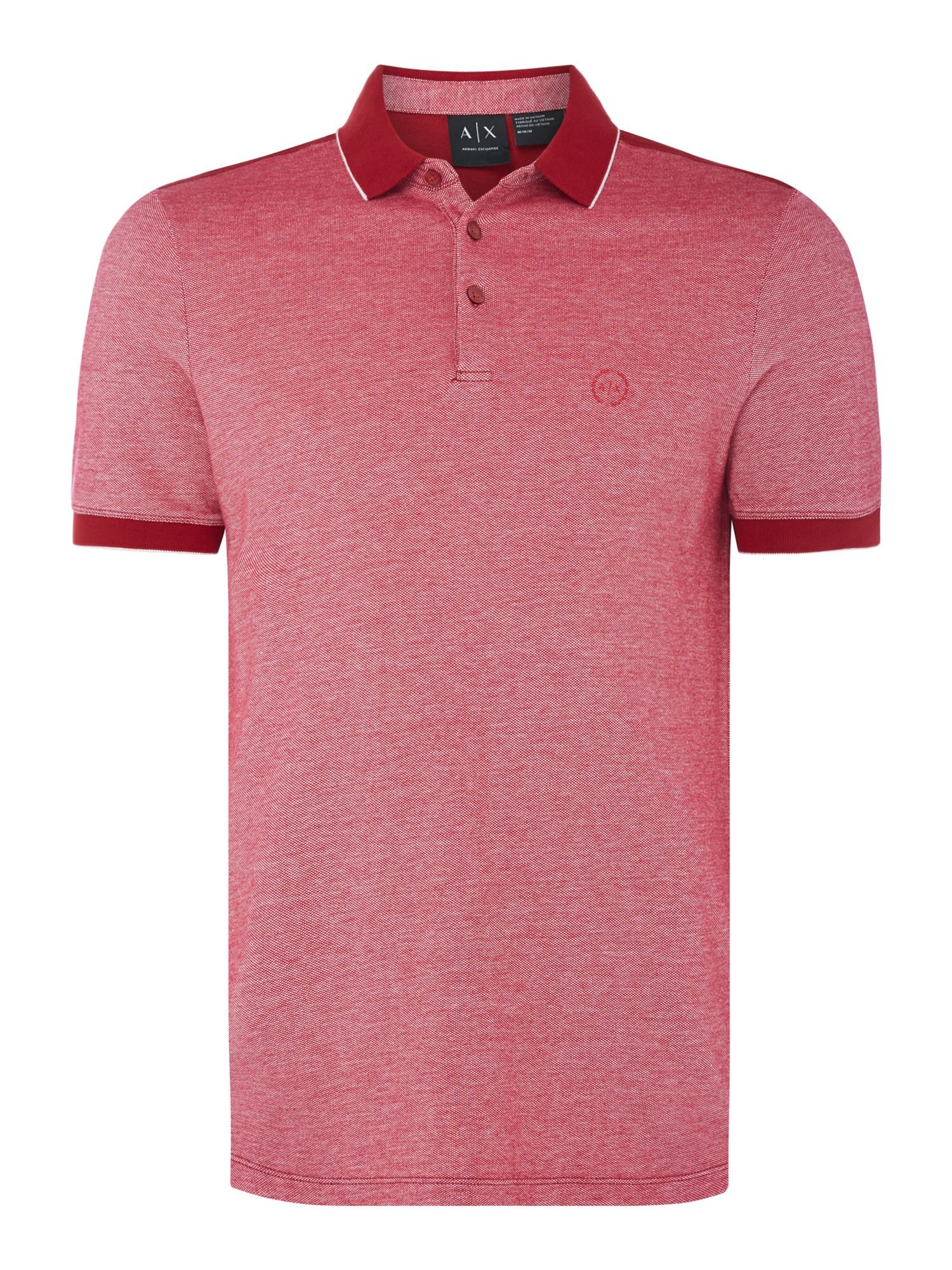 Men's Armani Exchange Contrast Collar Polo, Red