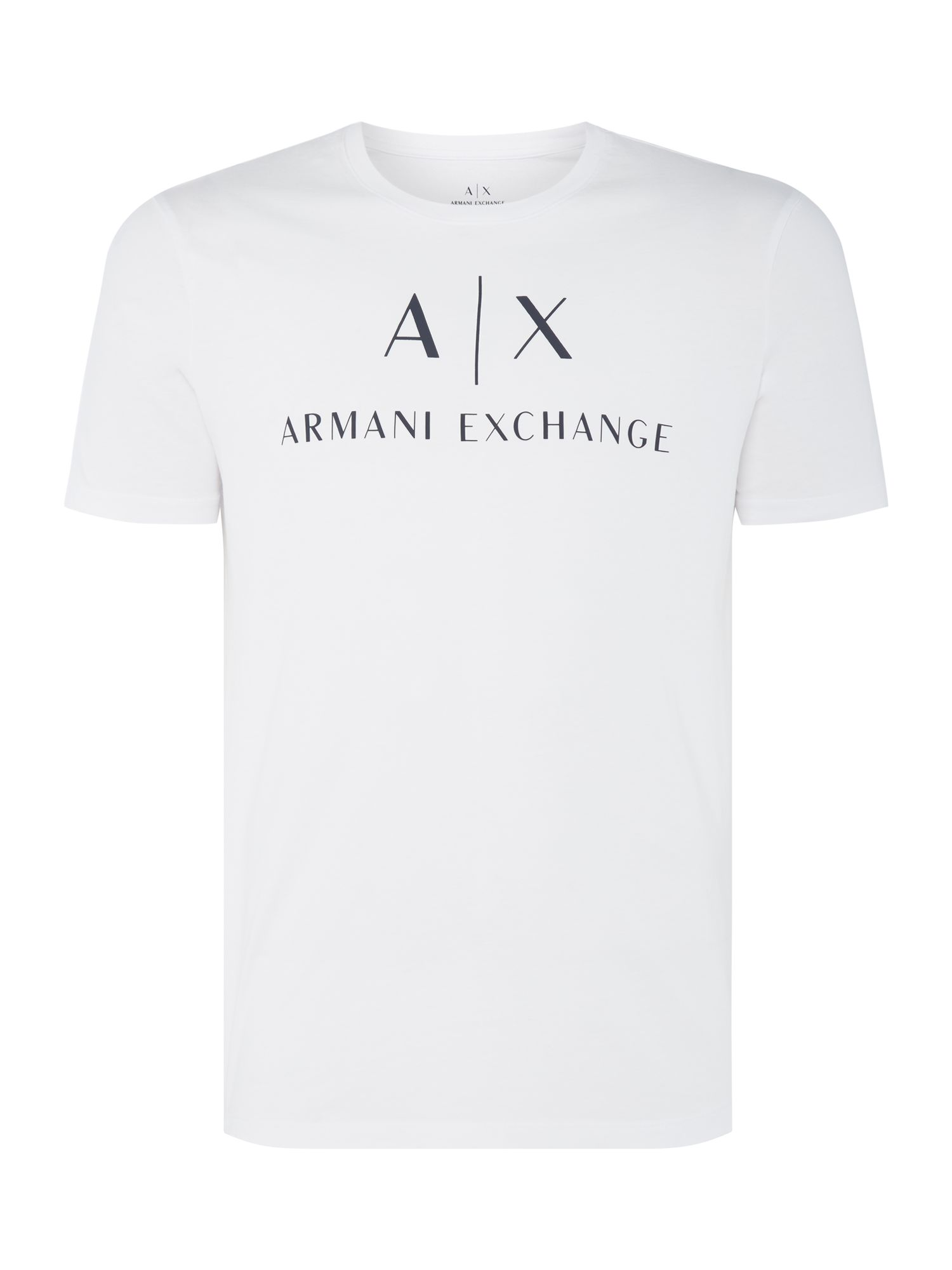 Men's Armani Exchange AX Logo Tshirt, White