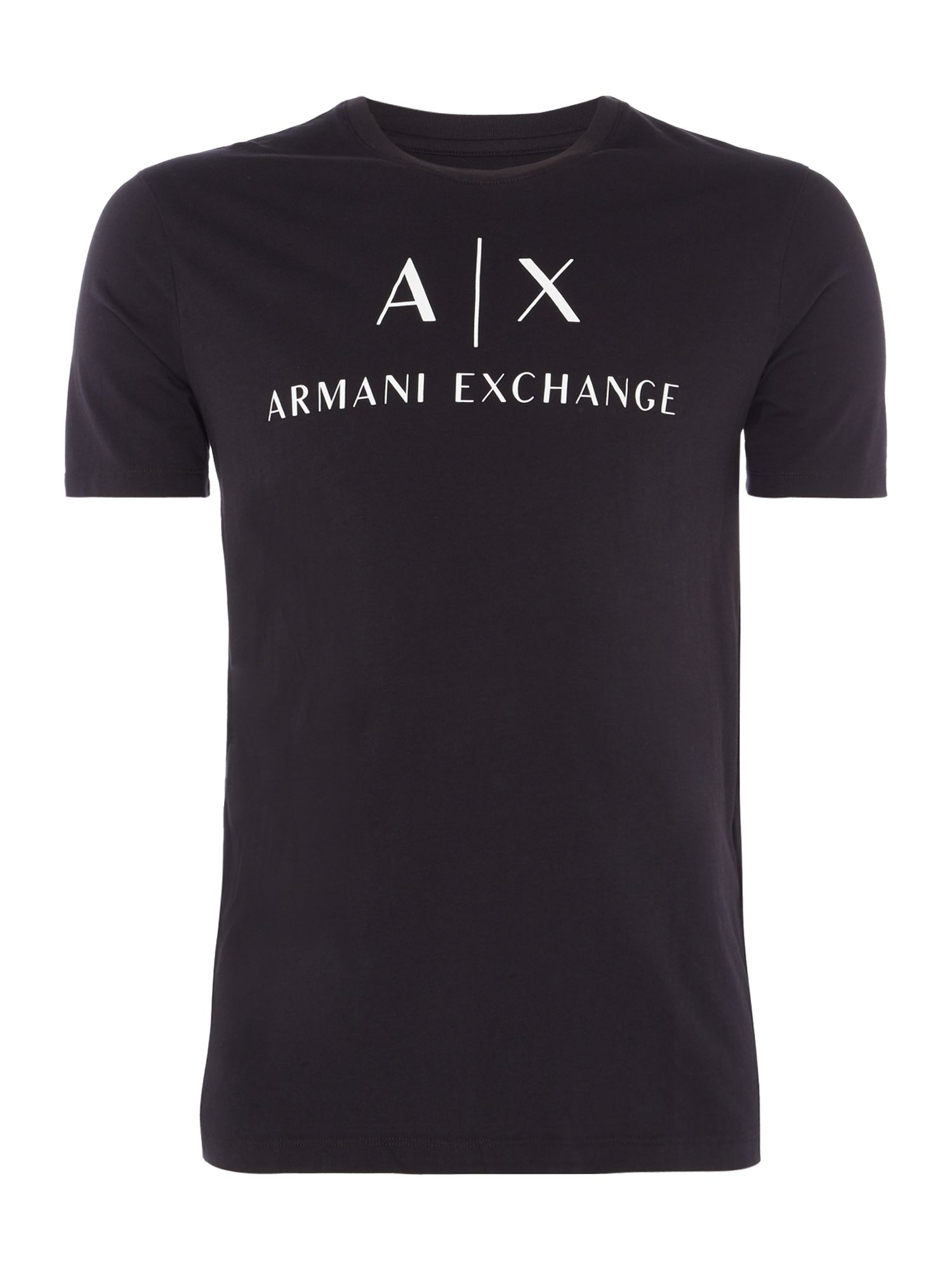Men's Armani Exchange AX Logo Tshirt, Black