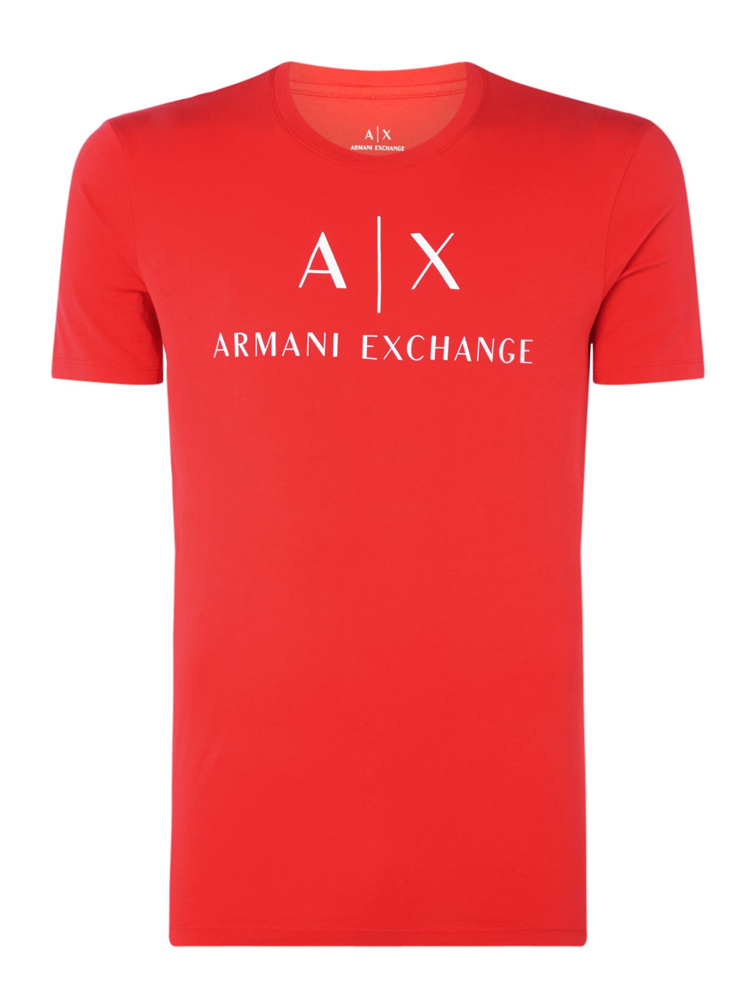 Men's Armani Exchange AX Logo Tshirt, Red