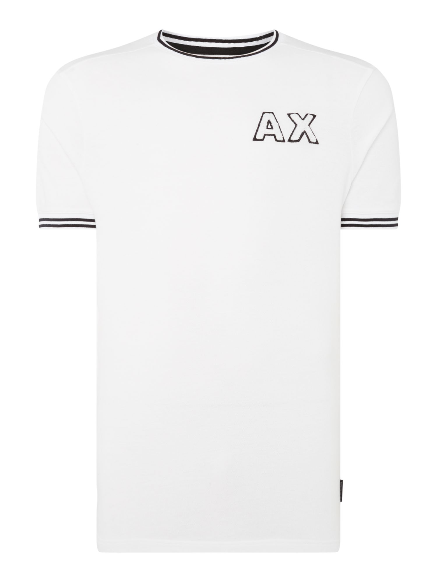 Men's Armani Exchange AX Textured Logo Tshirt, White