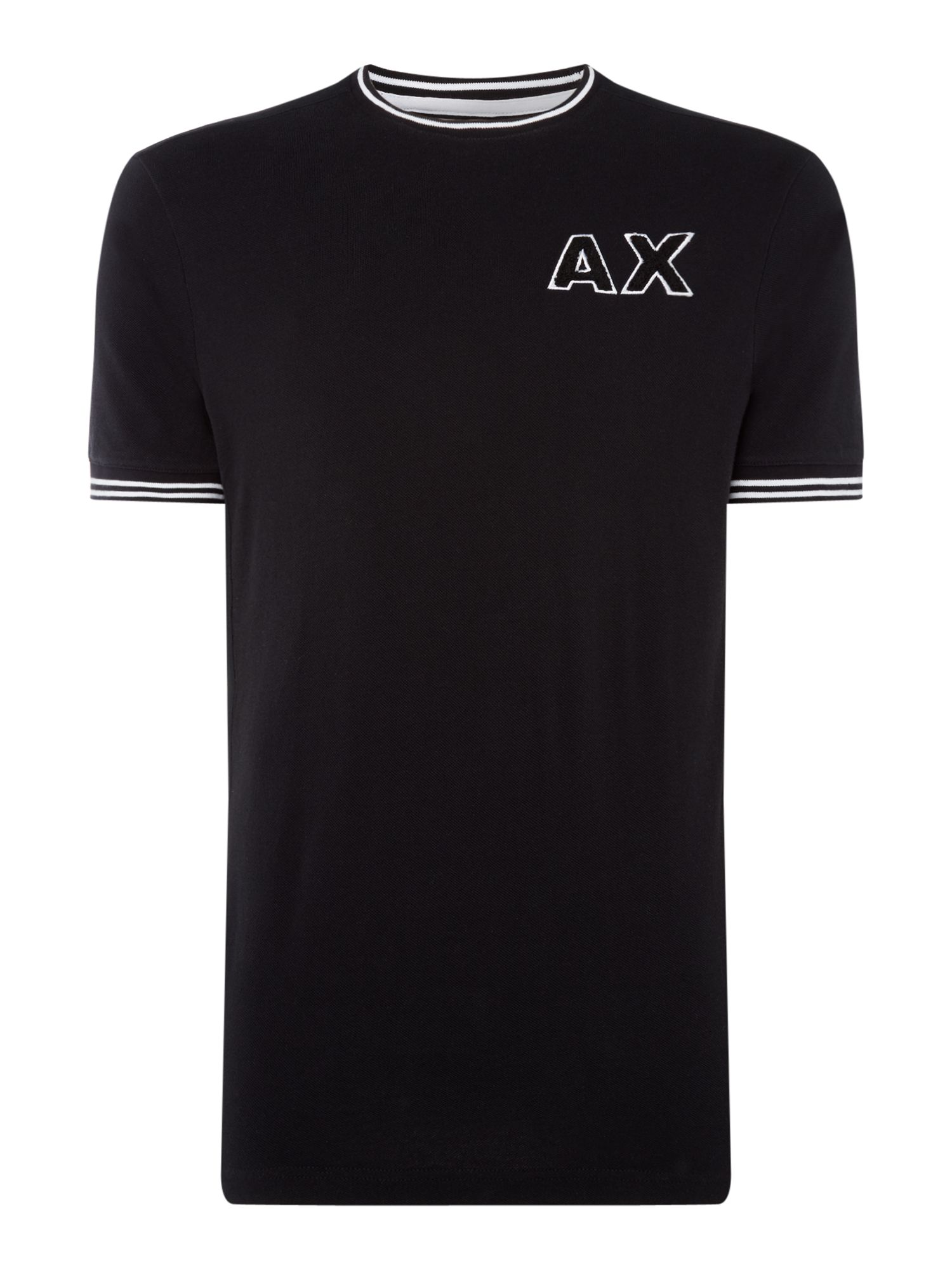 Men's Armani Exchange AX Textured Logo Tshirt, Black