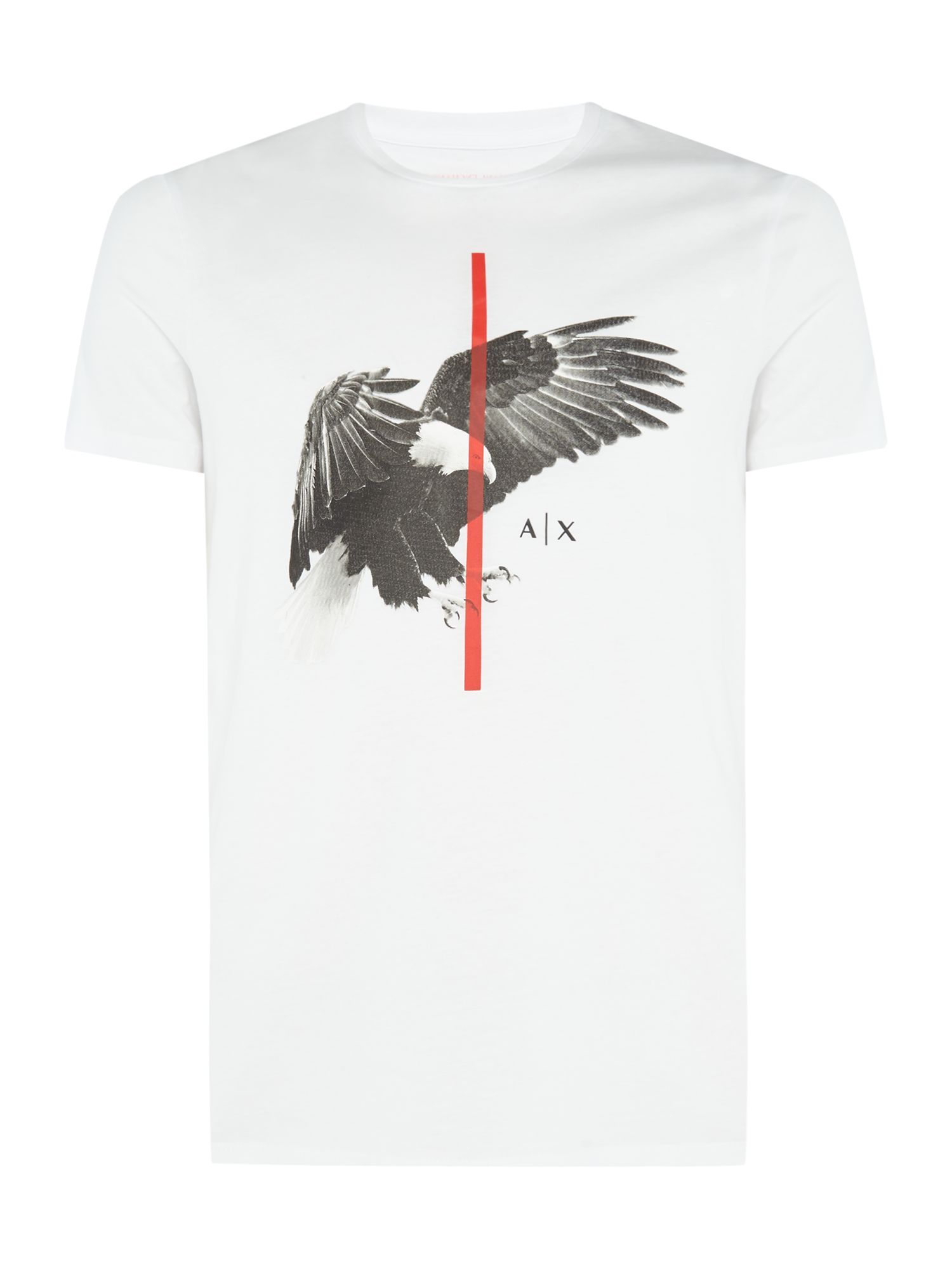 Men's Armani Exchange Eagle Print Tshirt, White